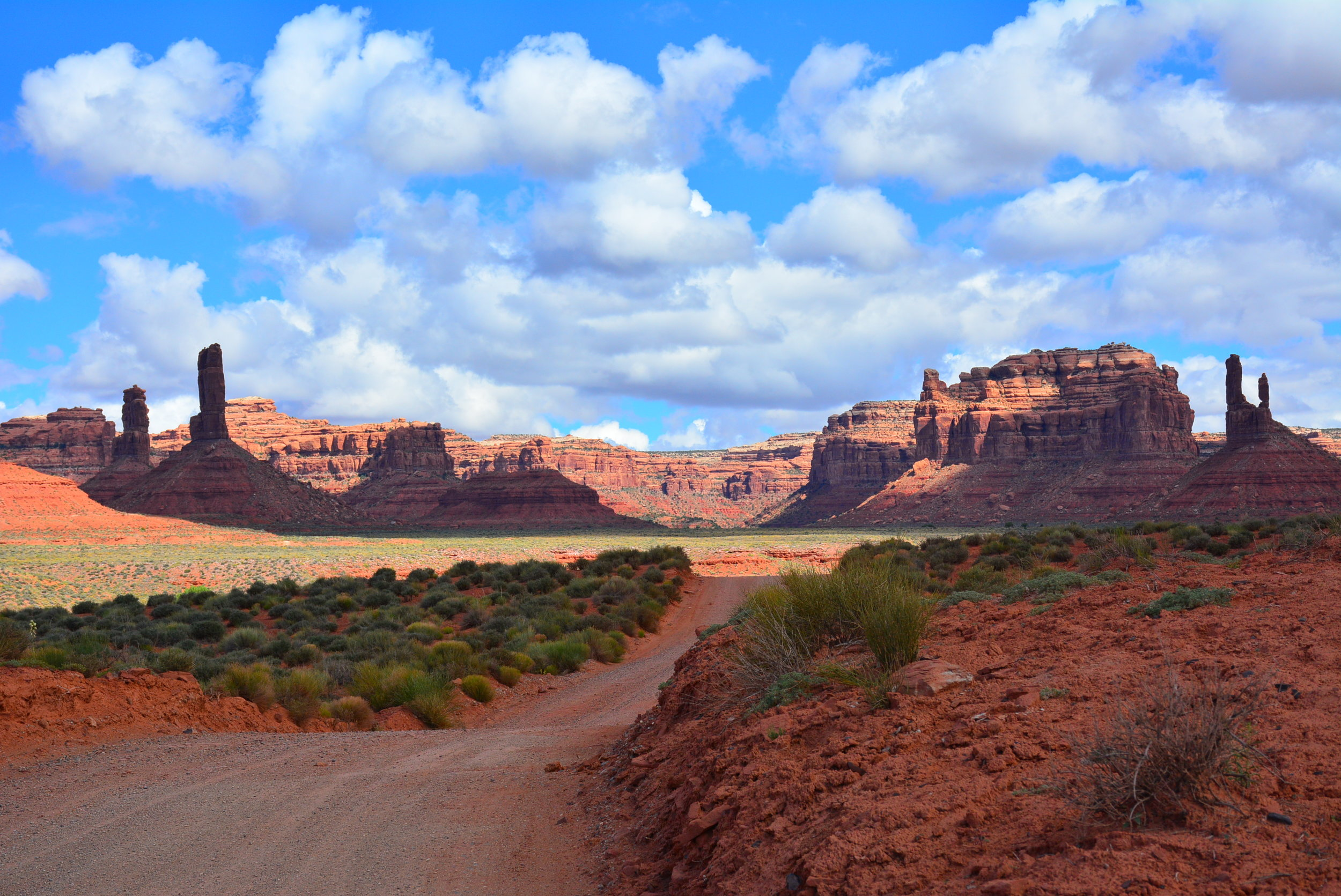 Driving the 17 miles through Valley of the Gods