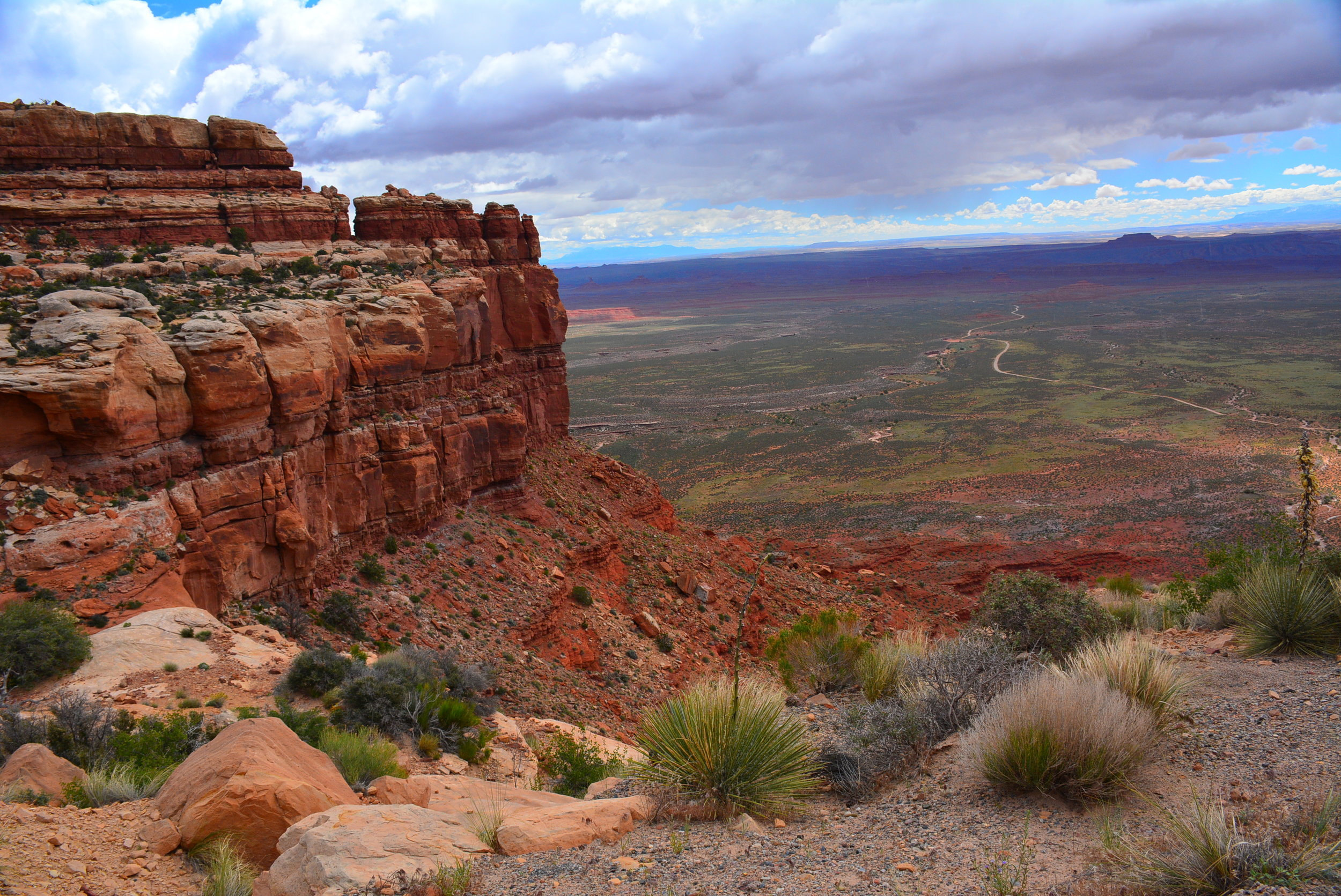 Near the top of the Moki Dugway -Valley of the Gods below