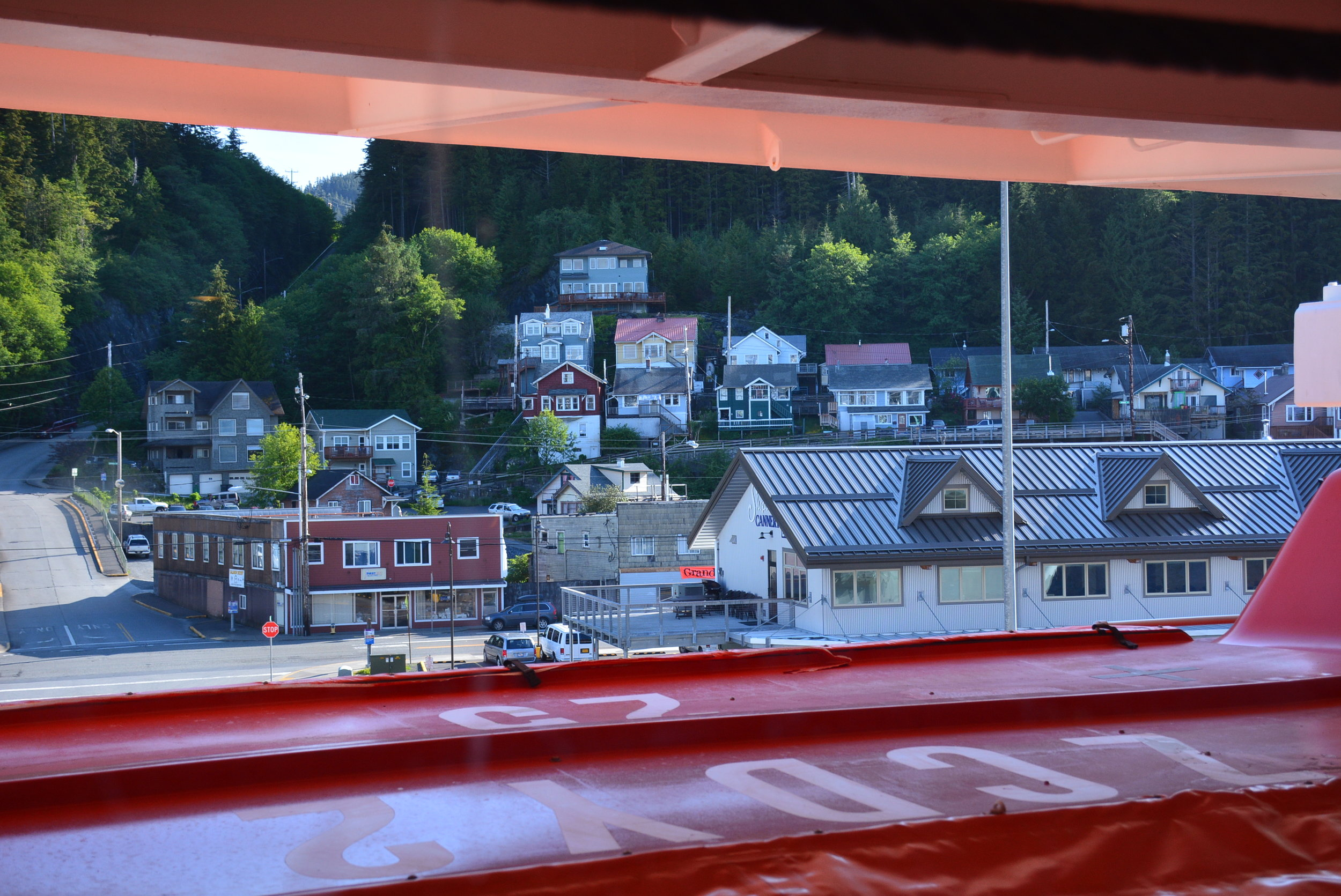 Steamed all night, awoke in Ketchikan