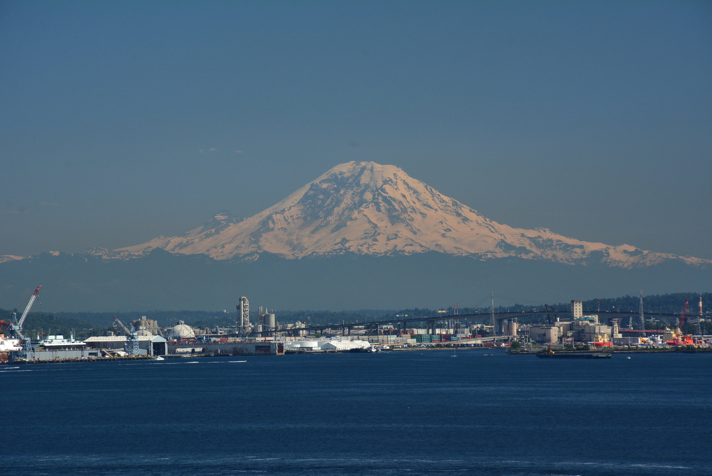 Departing Seattle on the Ruby Princess