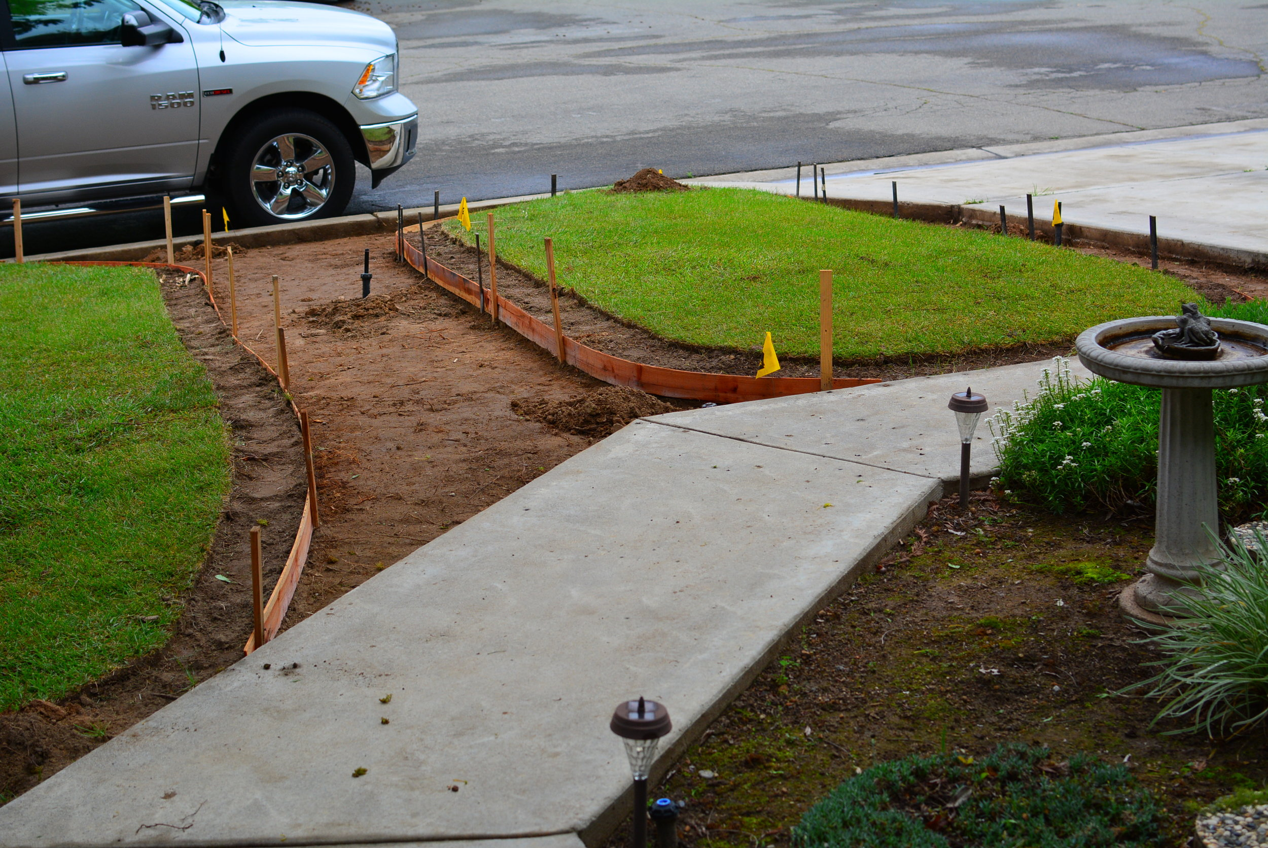 4/13/17- Sod removal & subgrade preparation