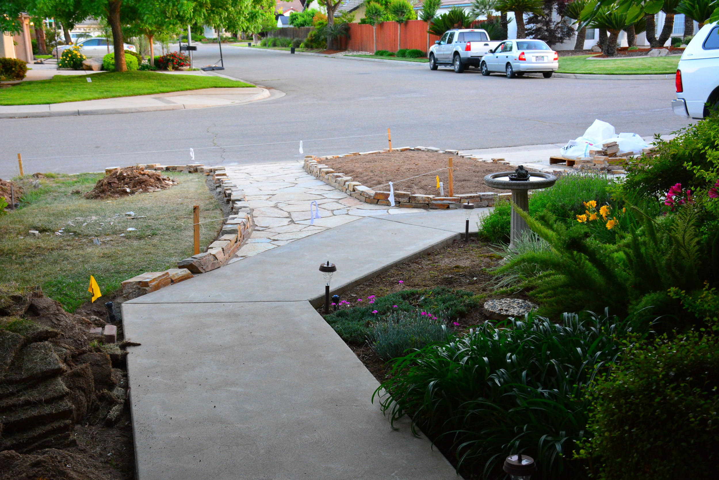 4/29/17- Fast forward- all the curbs bordering flagstone are done