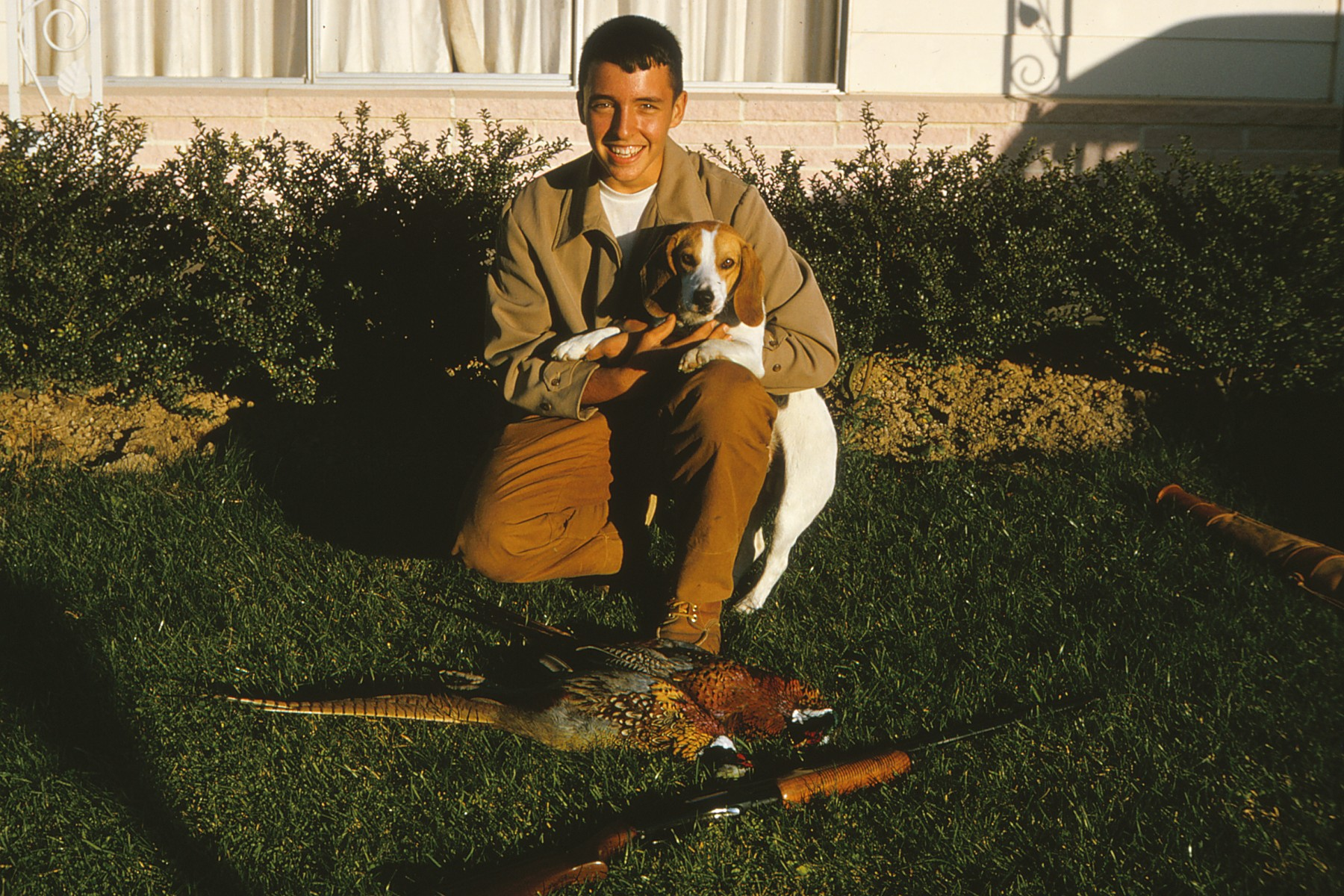 With Spuddy & a brace of pheasants, 1964 PA