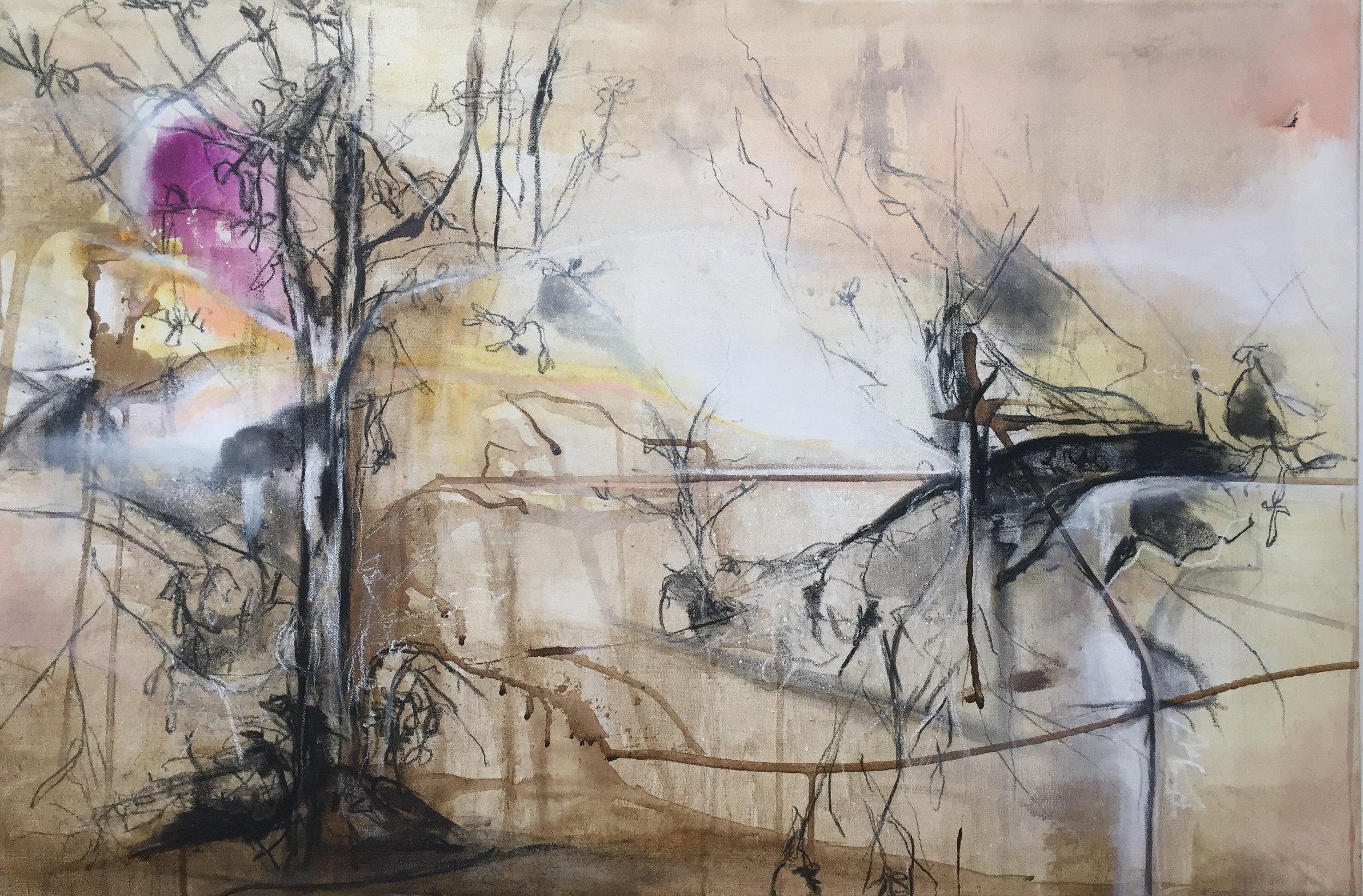 'Blind Folded' 90cm x 60cm Mixed Media on Canvas