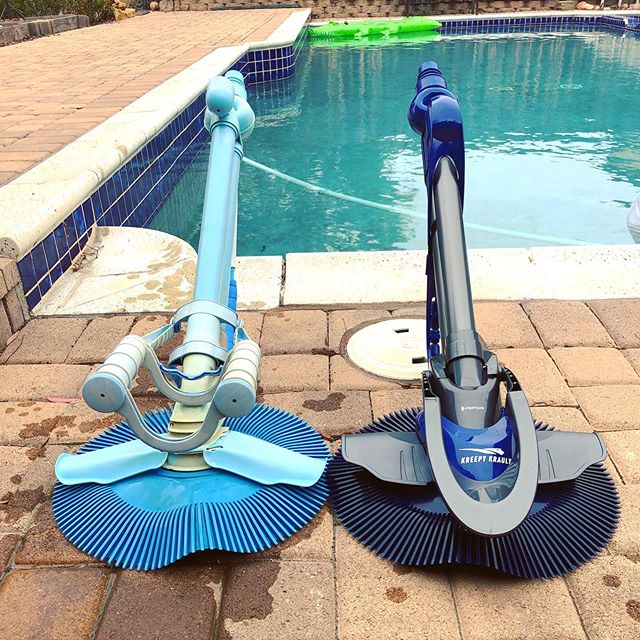 Out with the old, and in with the new! 🔥  Grab this @pentair Kreepy Krauly pool cleaner while it's still hot!
