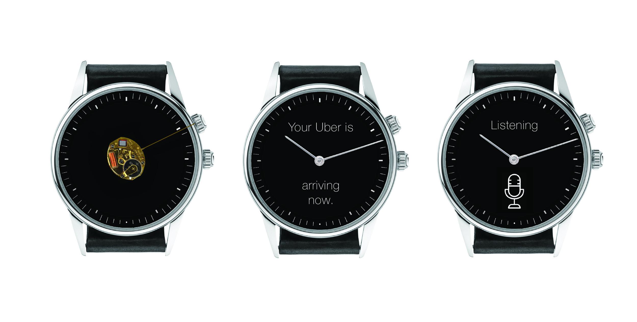 MVP 2 - JURA BETA - Three essential features: 1) Analog quartz clock 2) Push notifications 3) Voice dictation