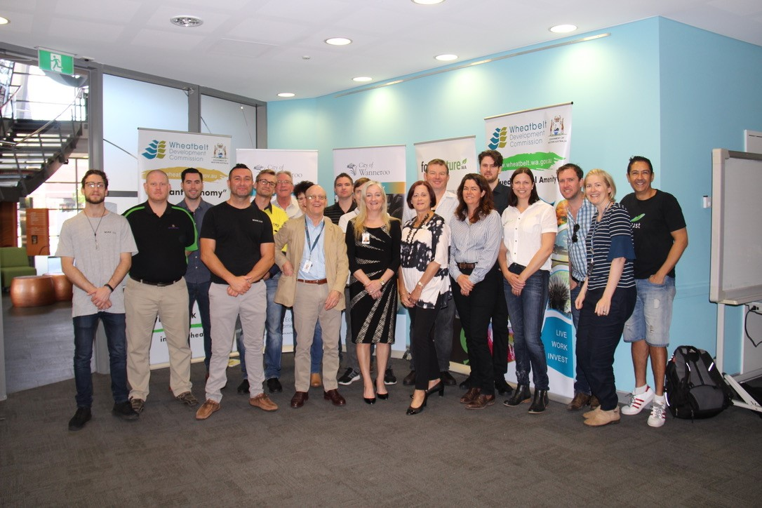 Tour launch at City of Wanneroo with Mayor Tracey Roberts and WDC CEO Wendy Newman