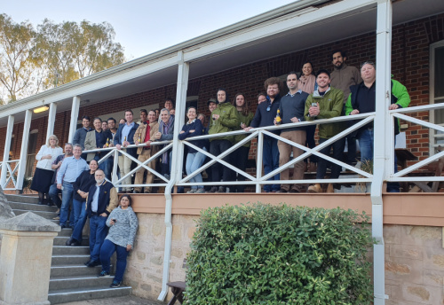 Wheatbelt Connect Hub cohort with mentors at Muresk Institute