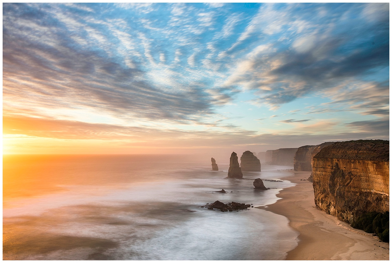 The 12 Apostles on Sunset  Canon 5D mkiv + 17-40mm f/4L @ 26mm  Hoya 10 stop ND filter  30seconds  f/10  ISO 100