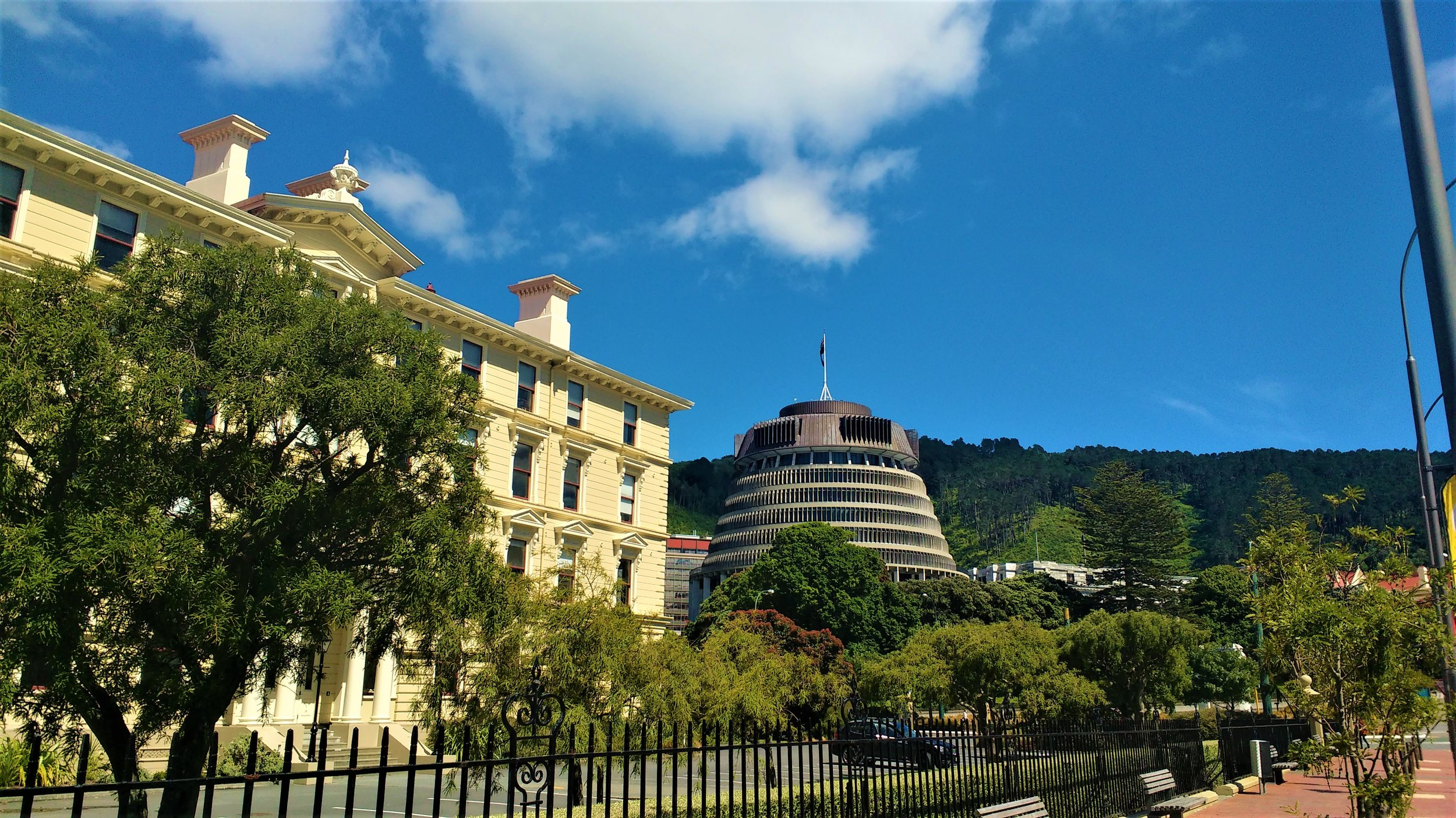 The Parliamentary Buildings and law library in wellington, New Zealand explore these top free things to do in Wellington