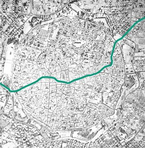 nicosia map showing the green line
