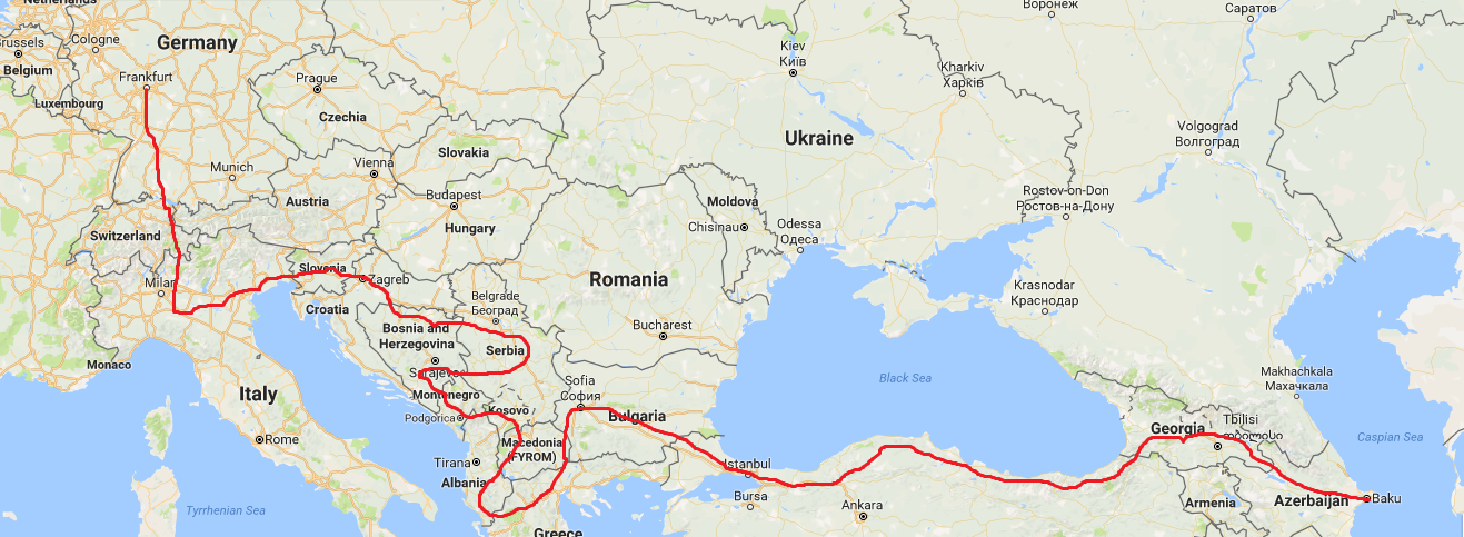 Our journey through the Balkans, Turkey and Georgia, the first part of our round the world trip