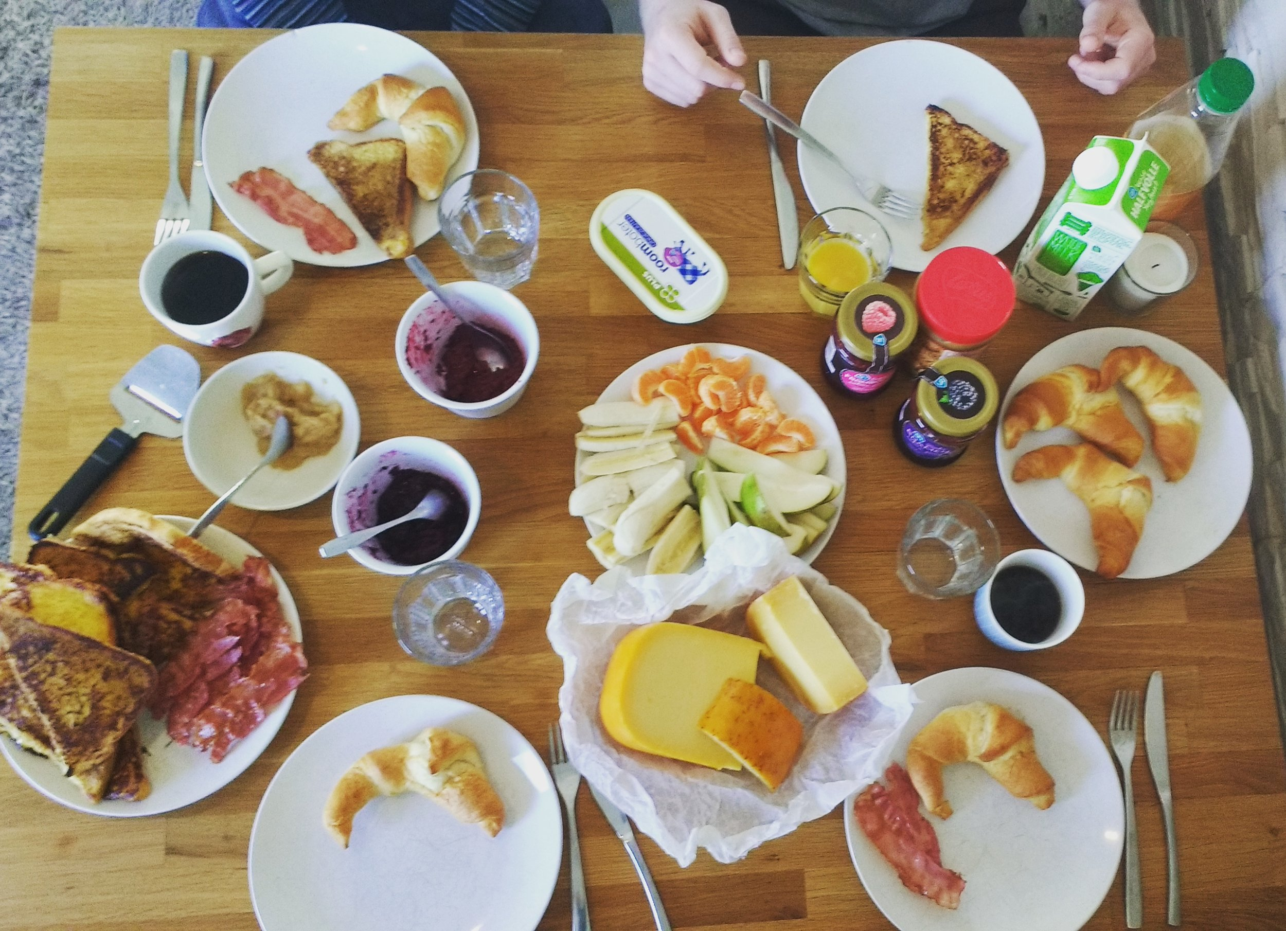 Amazing homemade brunch with friends - about a quarter of the price of going out!