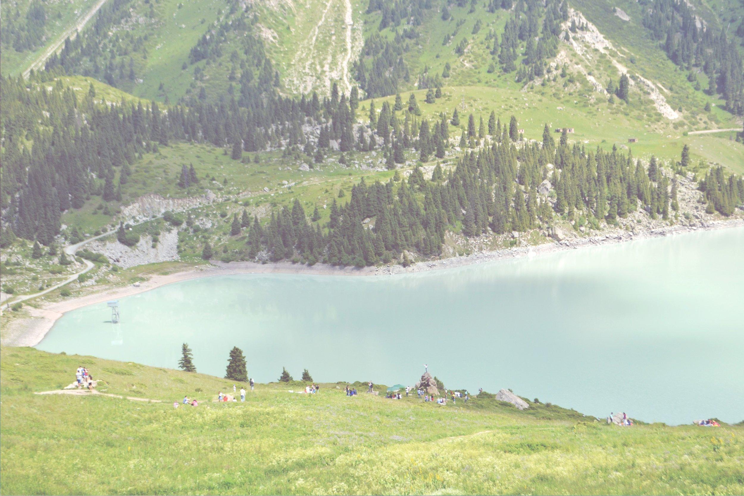 visiting the big almaty lake