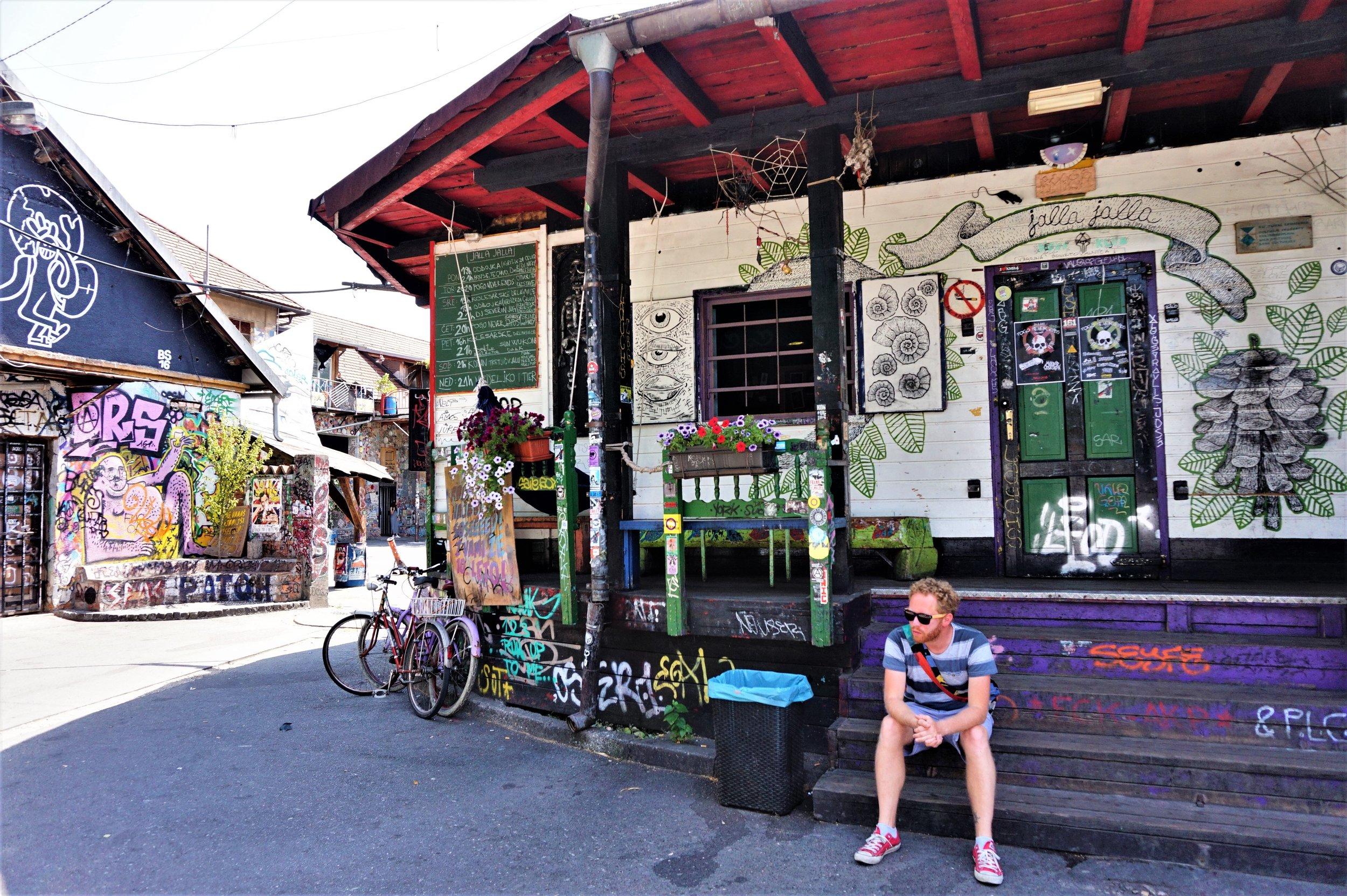 Metalkova district of Ljubljana, one of the best places to see in Ljubljana