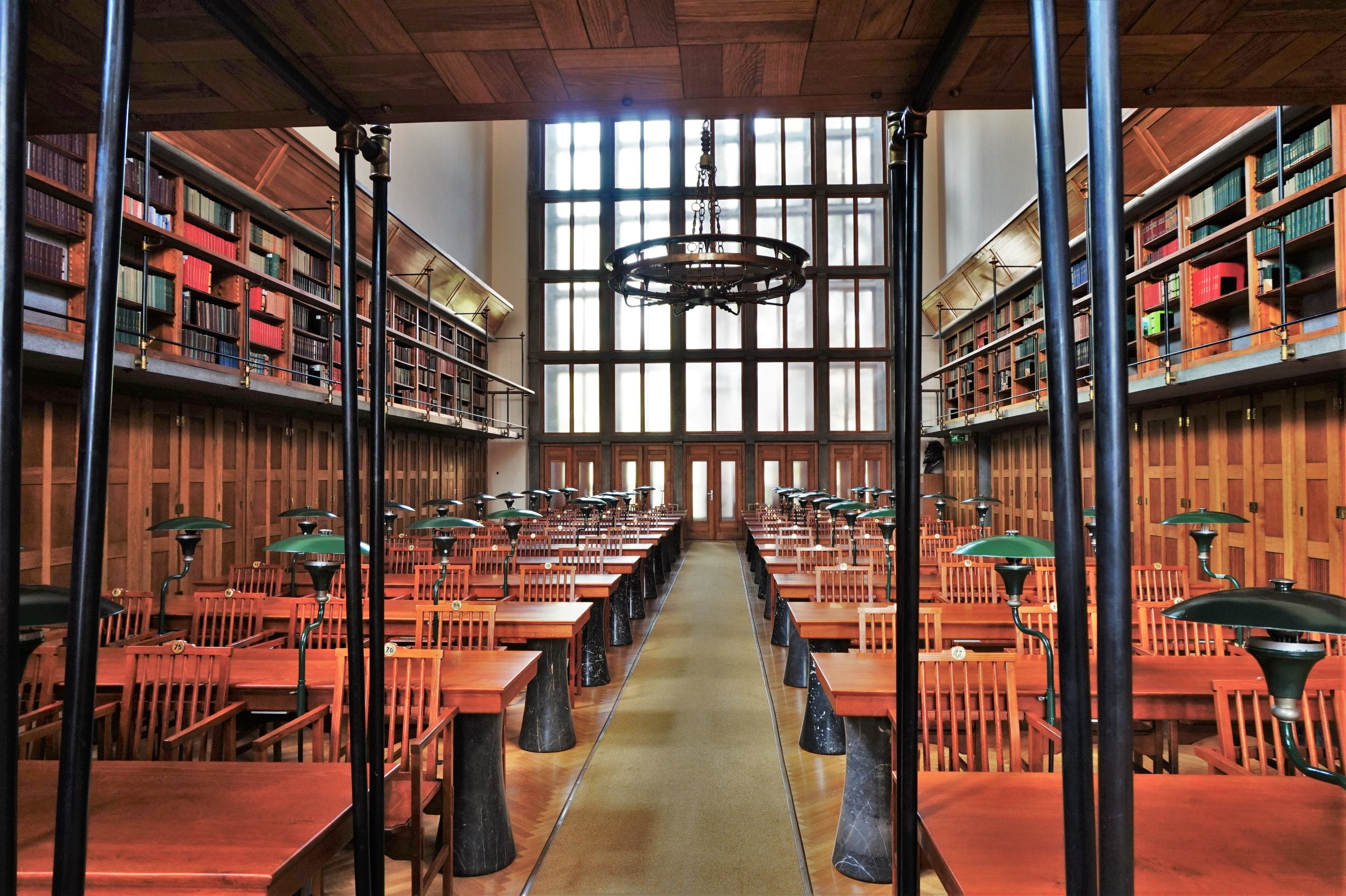 This is one of the to Ljubljana attractions, the university library reading room