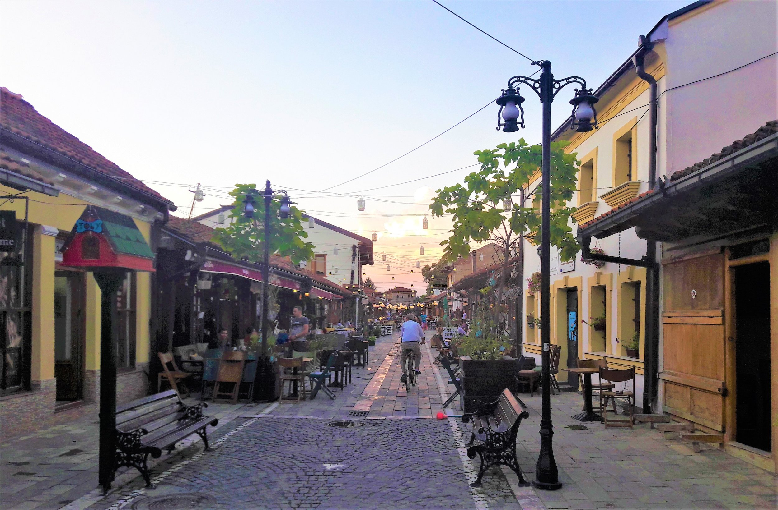 Streets of Gjakova, Kosovo one of the best places to visit in kosovo