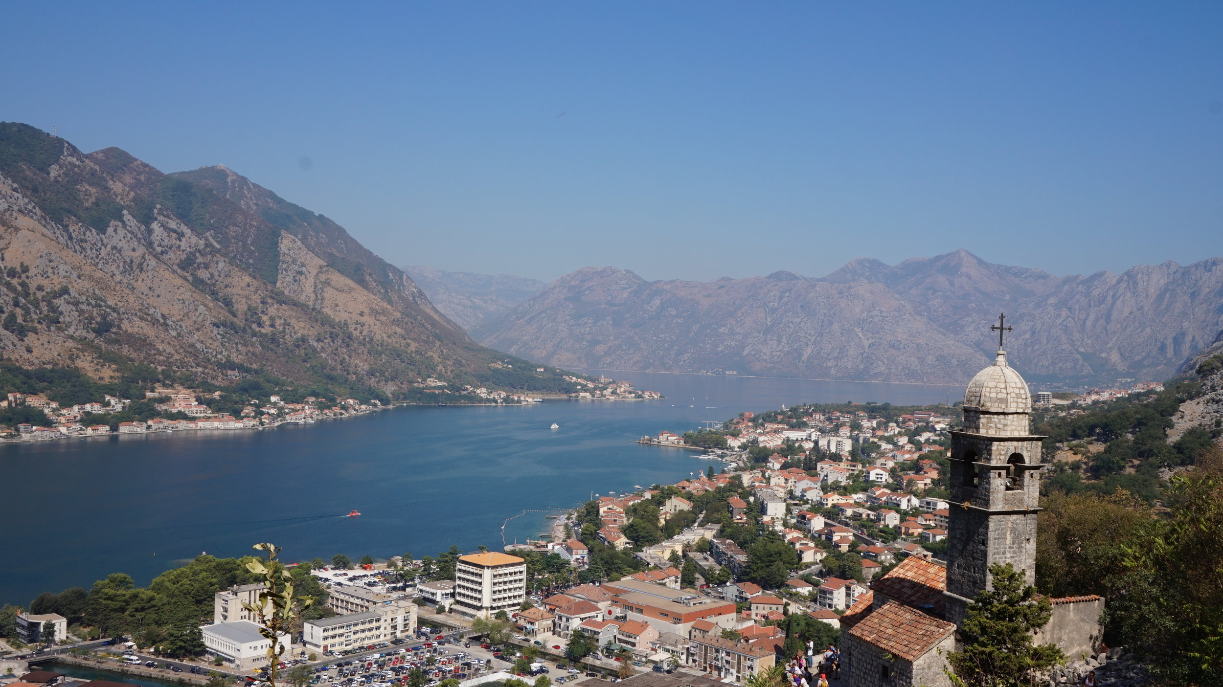 How to visit the bay of kotor on a budget - views of kotor