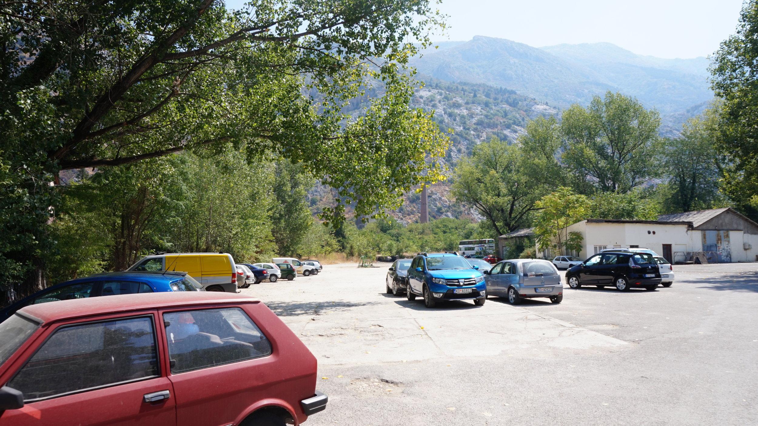 free parking in kotor