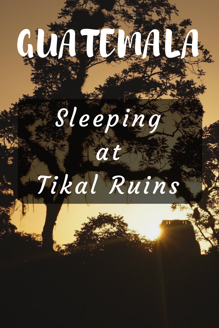 So you've heard of Tikal but did you know you can sleep there in a hammock? Enjoy a night under the stars and wake up with the whole park to yourself as the sun rises. #guatemala #travel #tikal #hammock