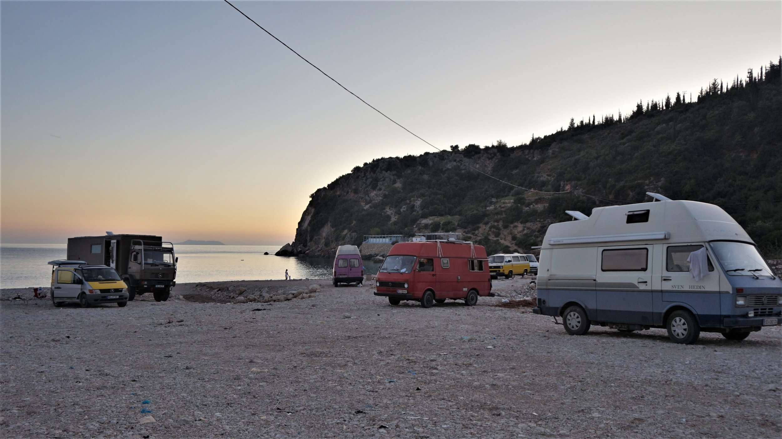 free camping in Albania, wild camping Albania spots