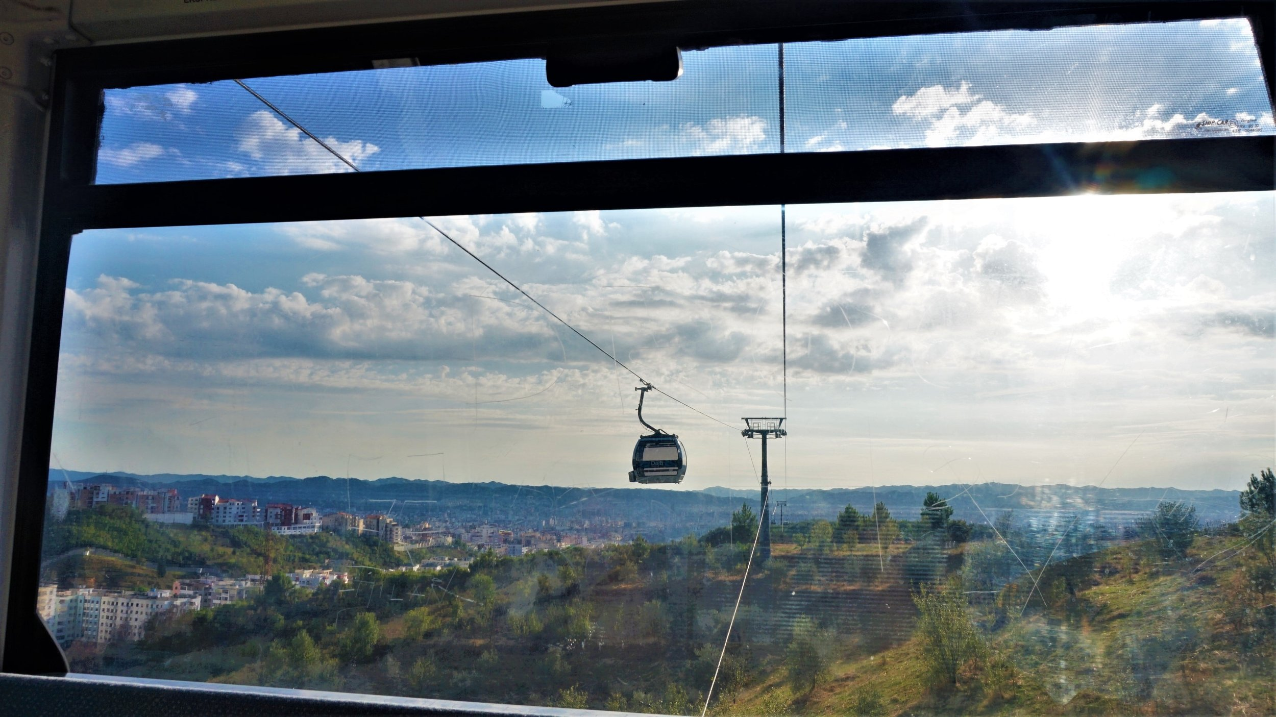 Taking the cable car up mount Dajti is a great activity for a sunny day in Tirana, Albania.
