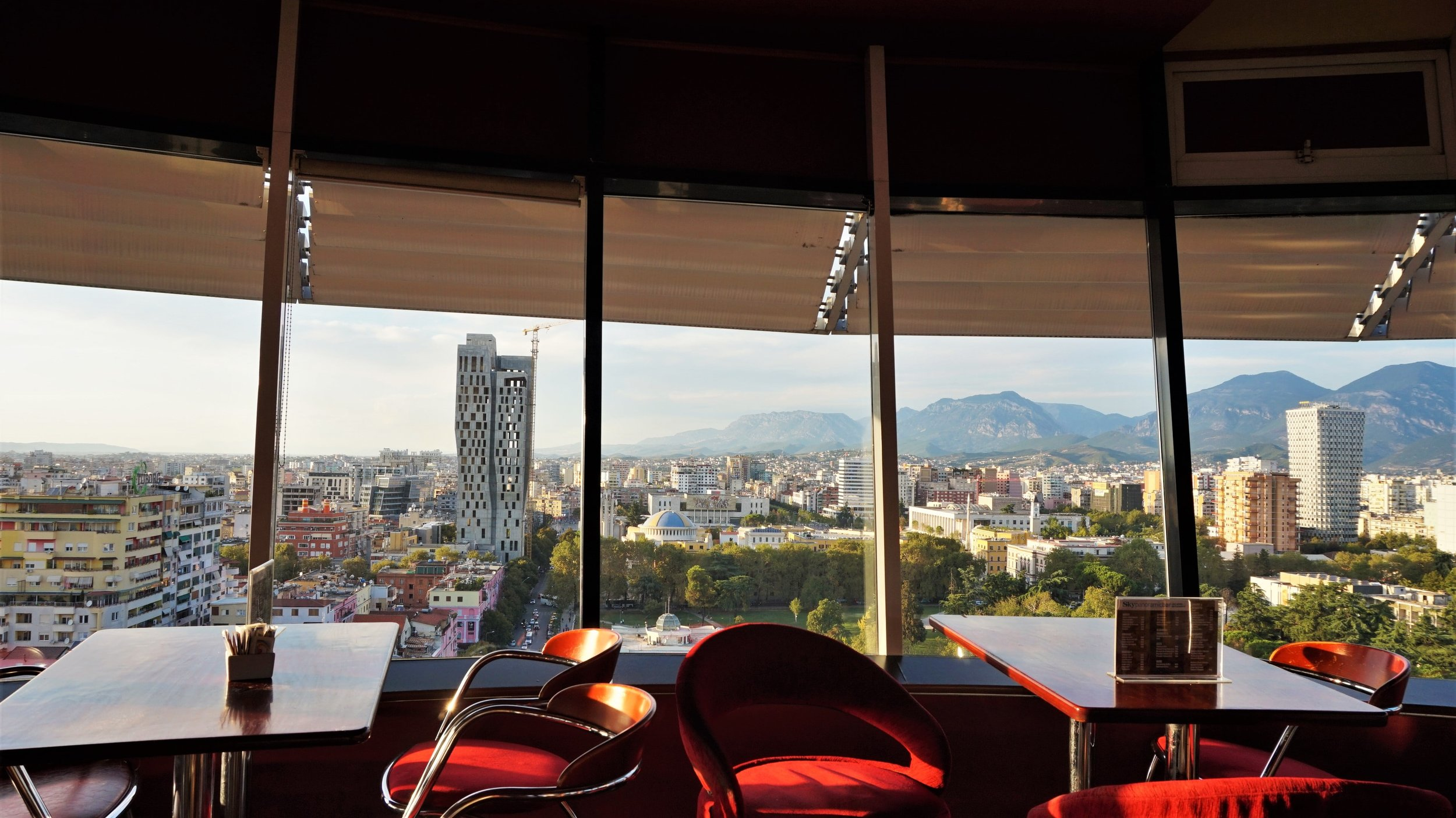The views from the Sky Tower is definitely one of the best things to do in Tirana, Albania.