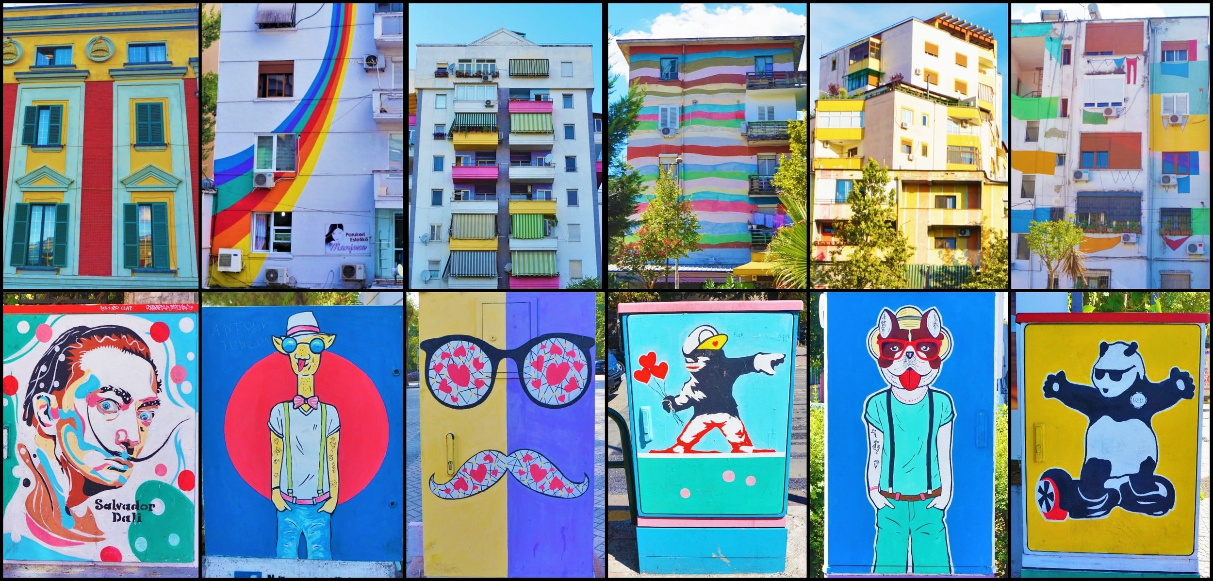You'll find beautiful street art everywhere around Tirana.