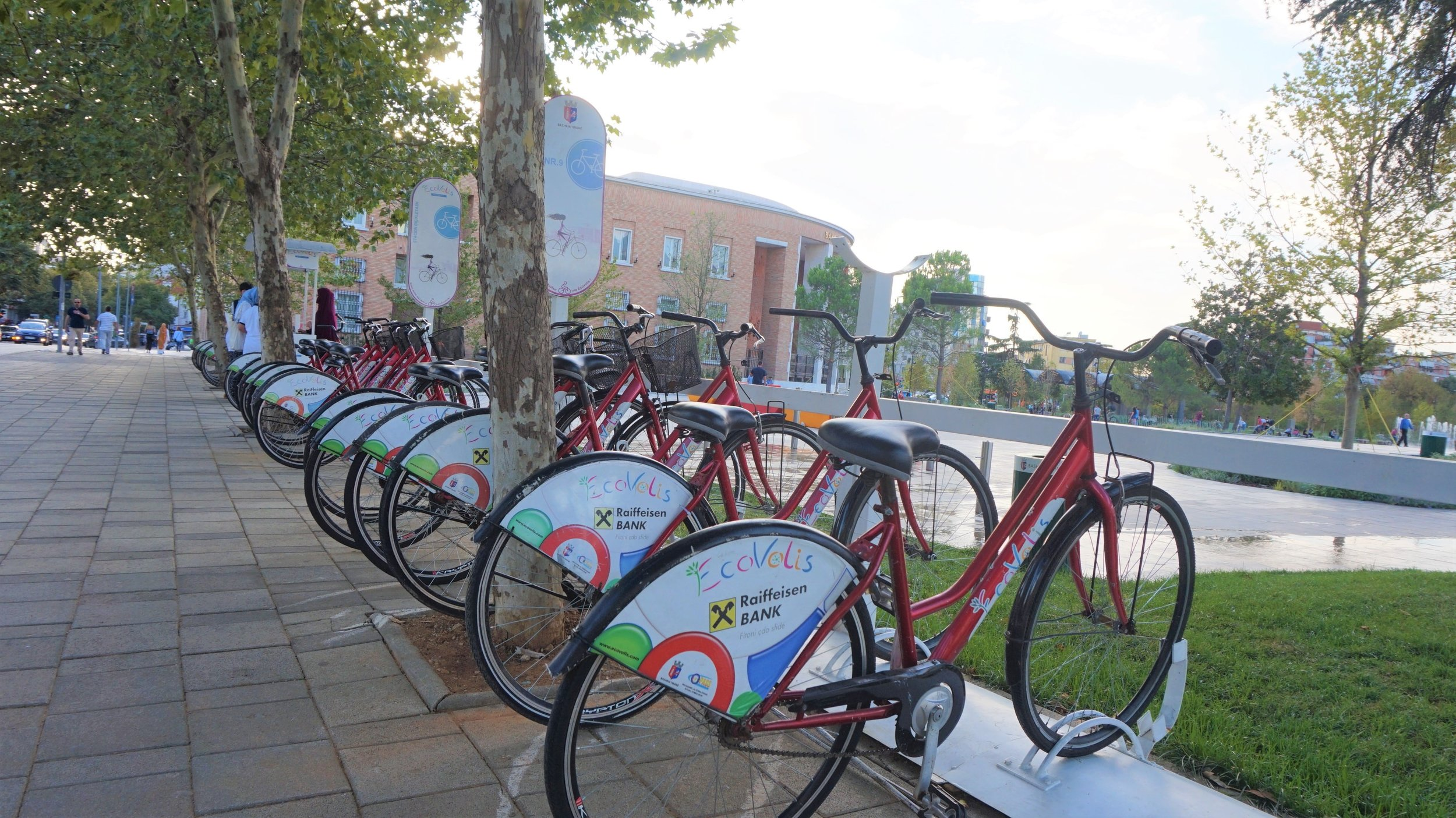 Hiring bikes and explore the city by bike is one of the best things to do in Tirana, Albania.