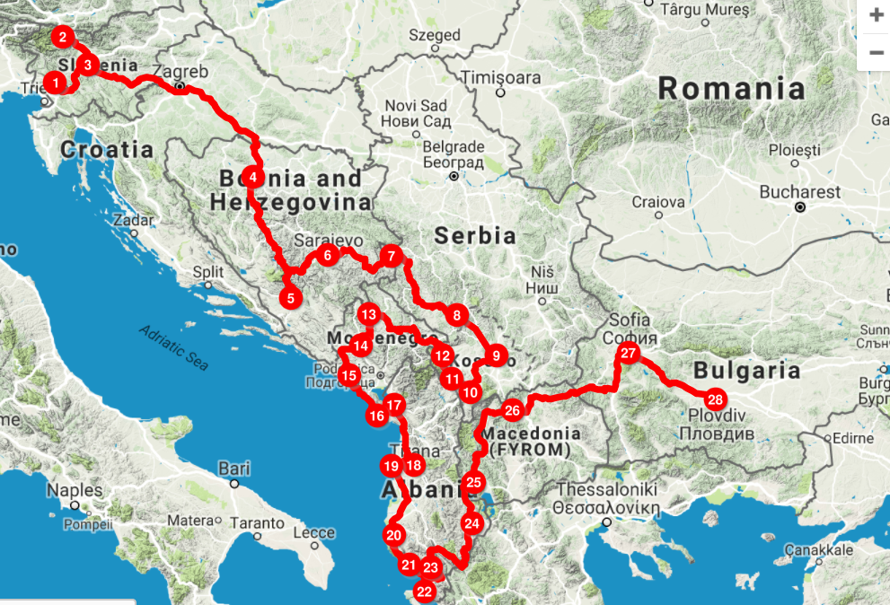 Planning a road trip in the Balkans? This is our route through the Balkans