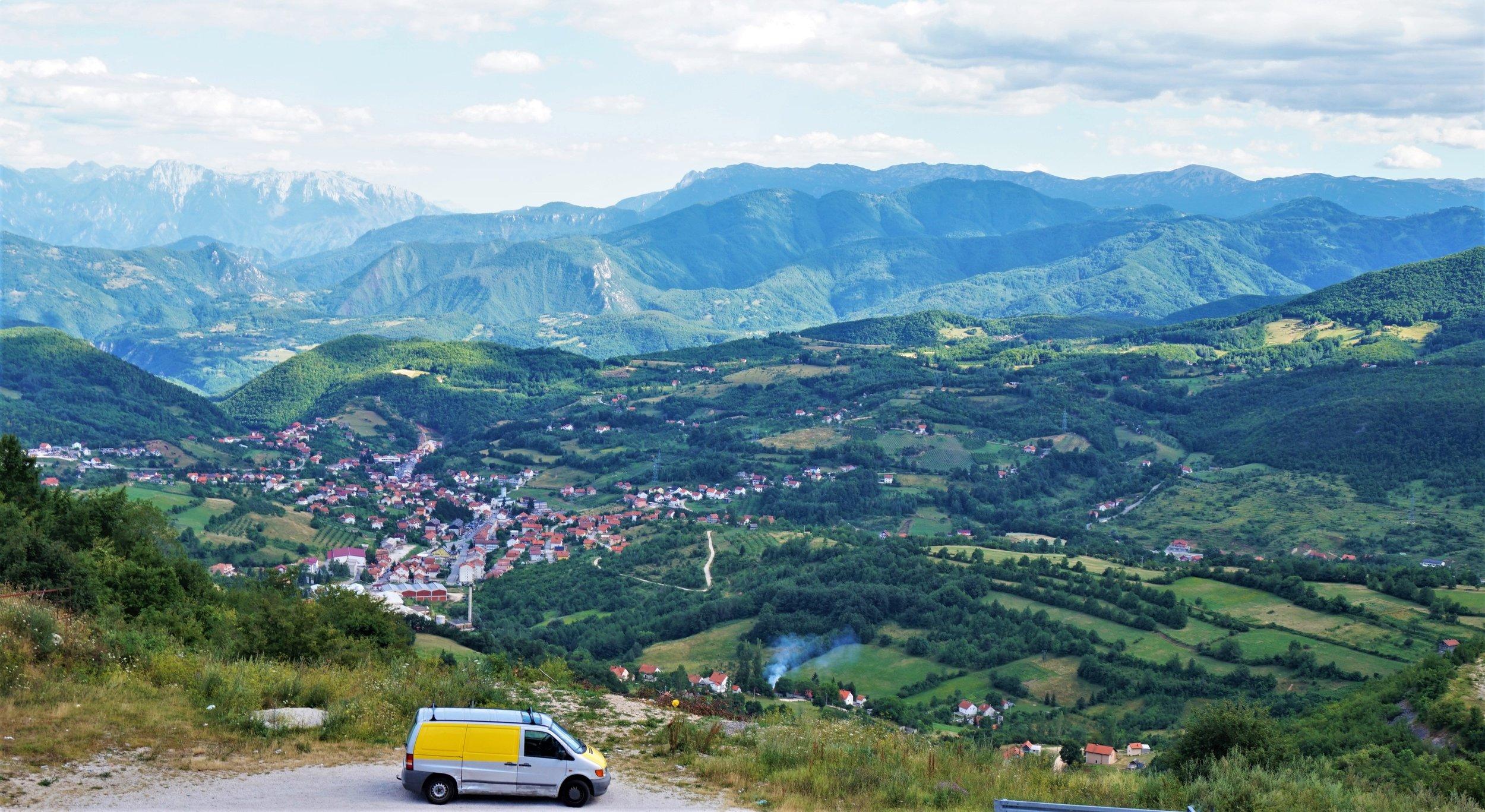 Views in Bosnia, the Balkans, a great place for a road trip #balkans #roadtrip #planning