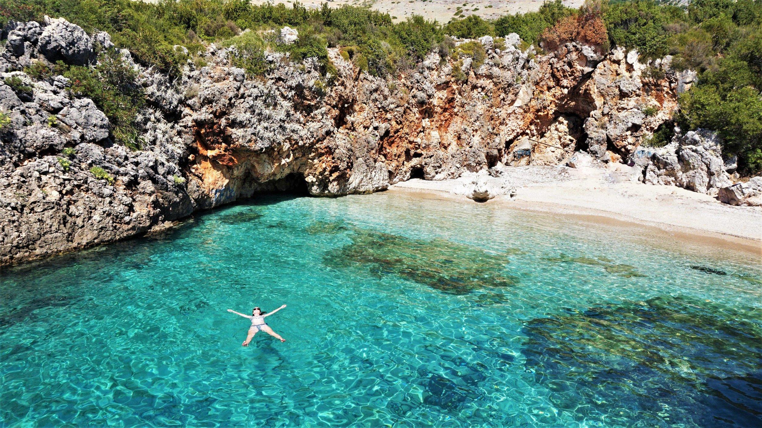 Beaches in Albania, a highlight of a road trip through the Balkans #Albania #roadtrip