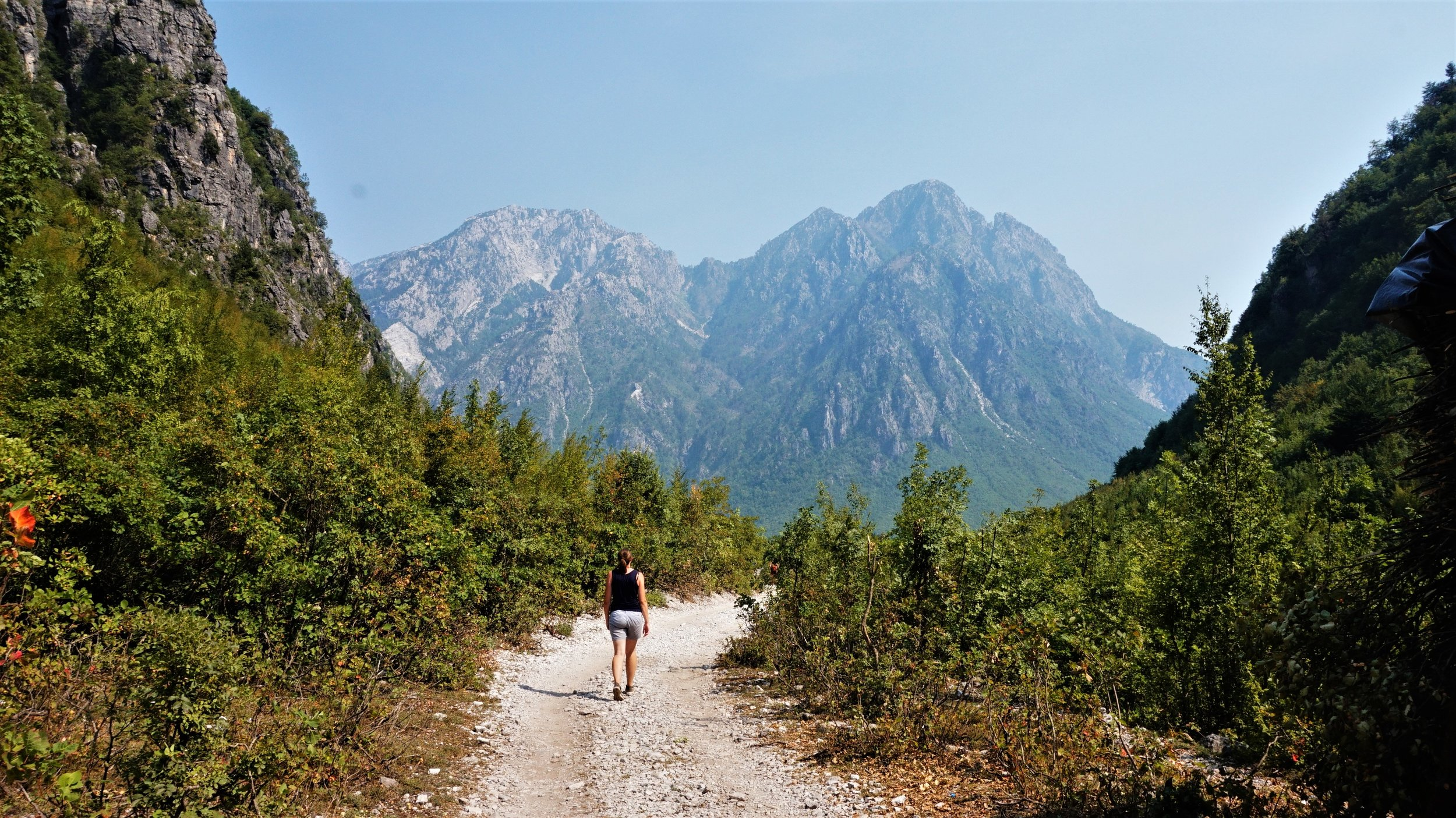 best place to stop on a road trip through the balkans - hiking theth to valbona