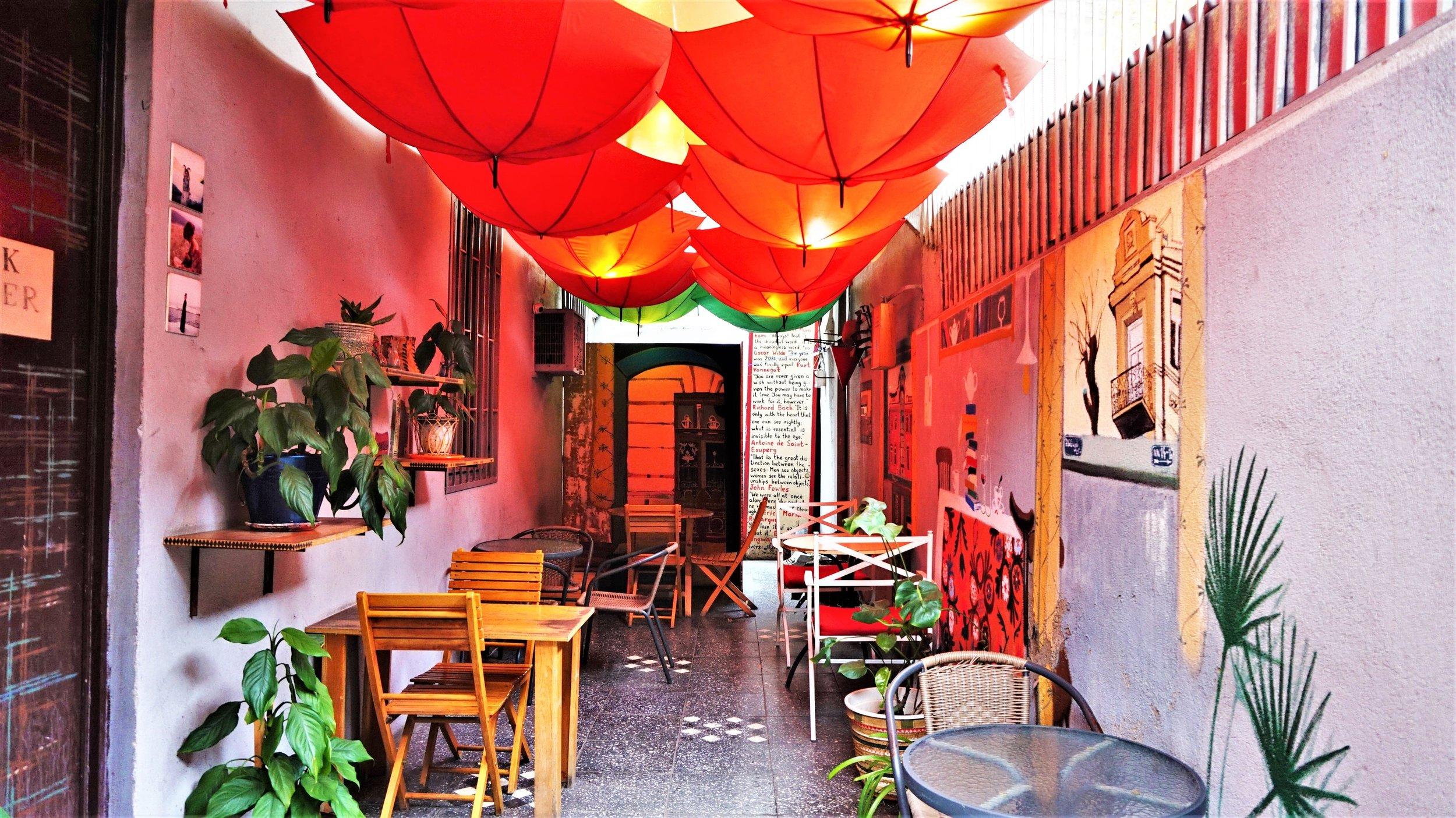 Book corner cafe tbilisi georgia