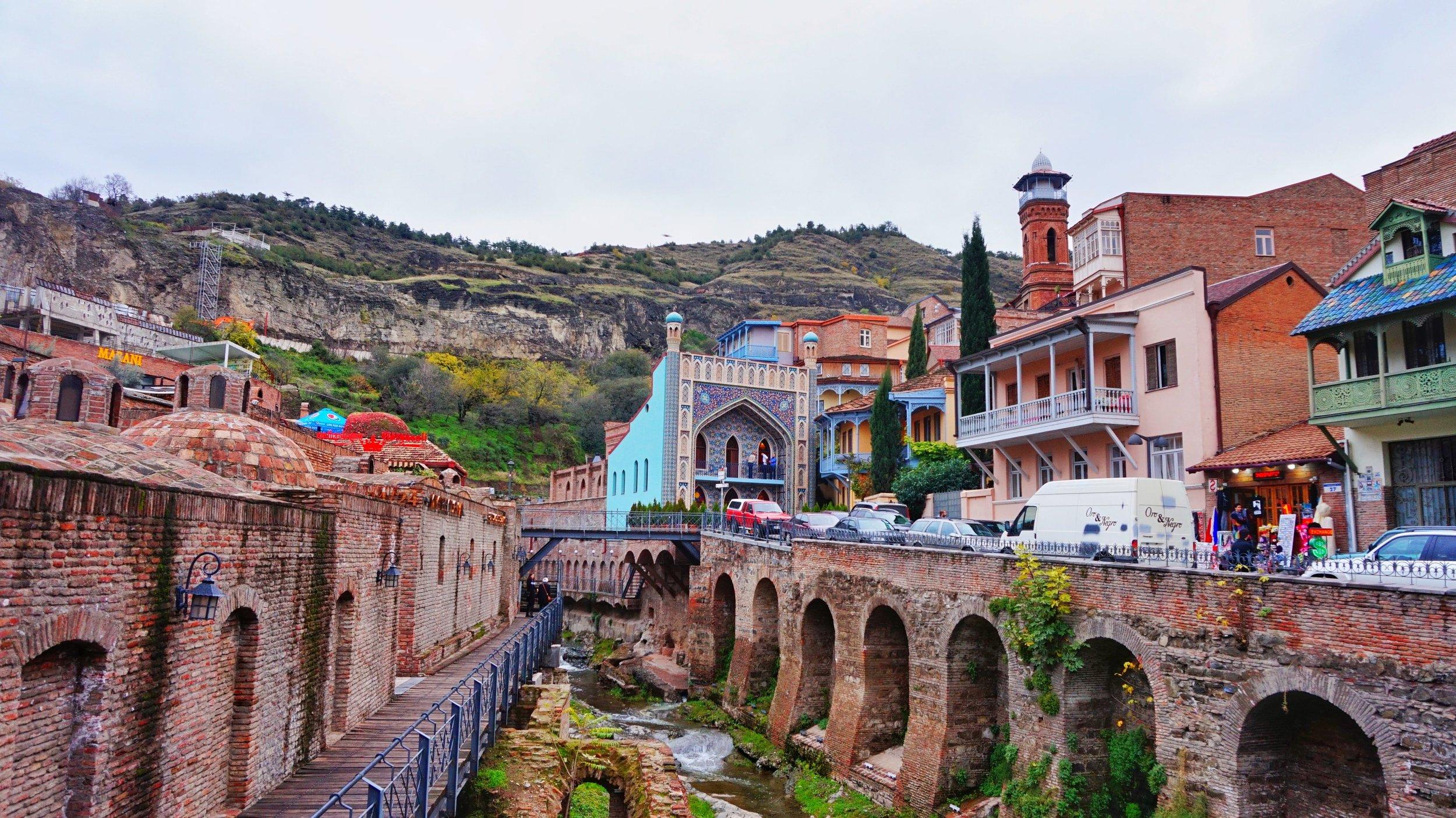 sulphur water in Tbilisi Georgia