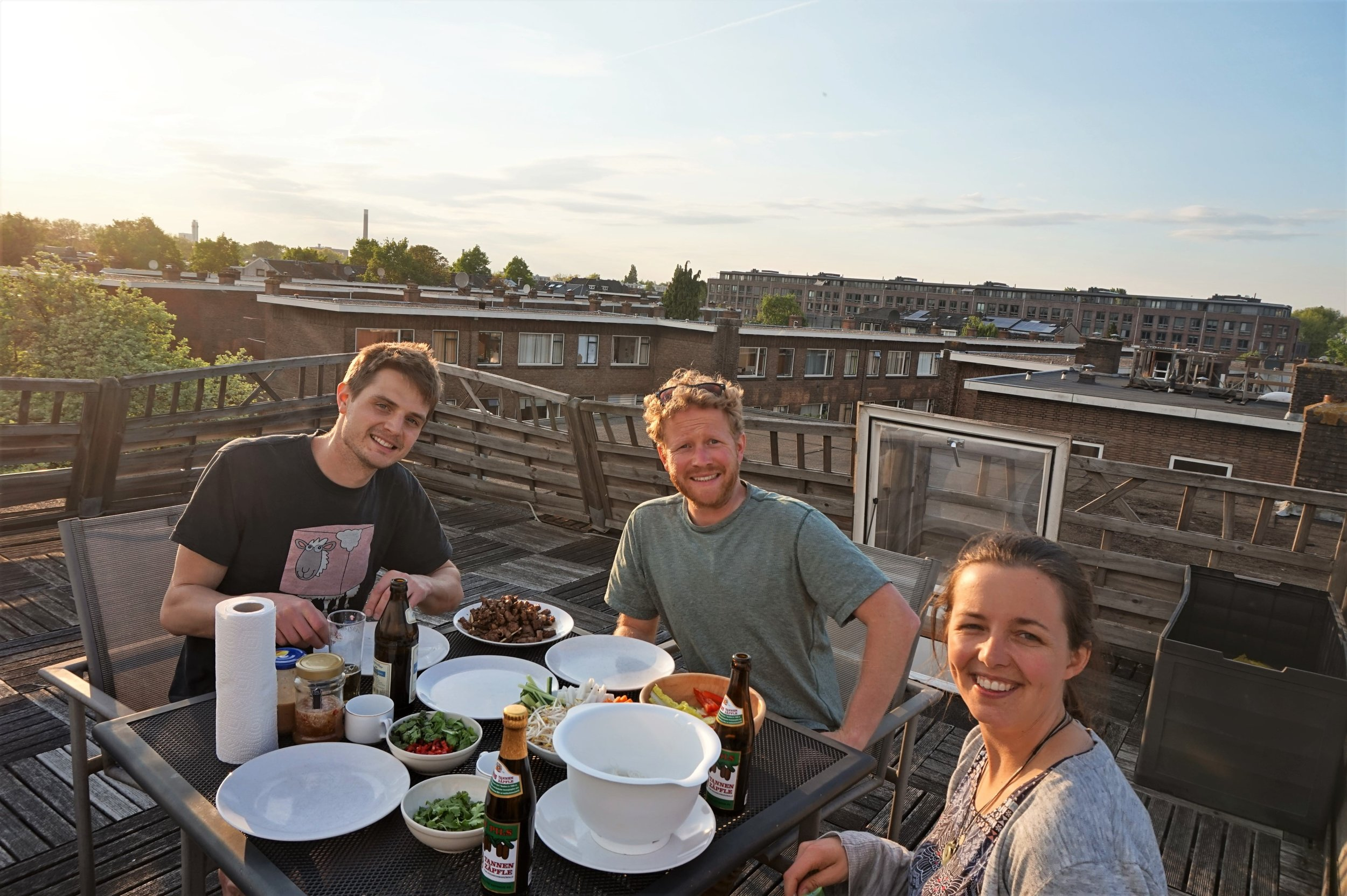 Dinner with friends in the Netherlands