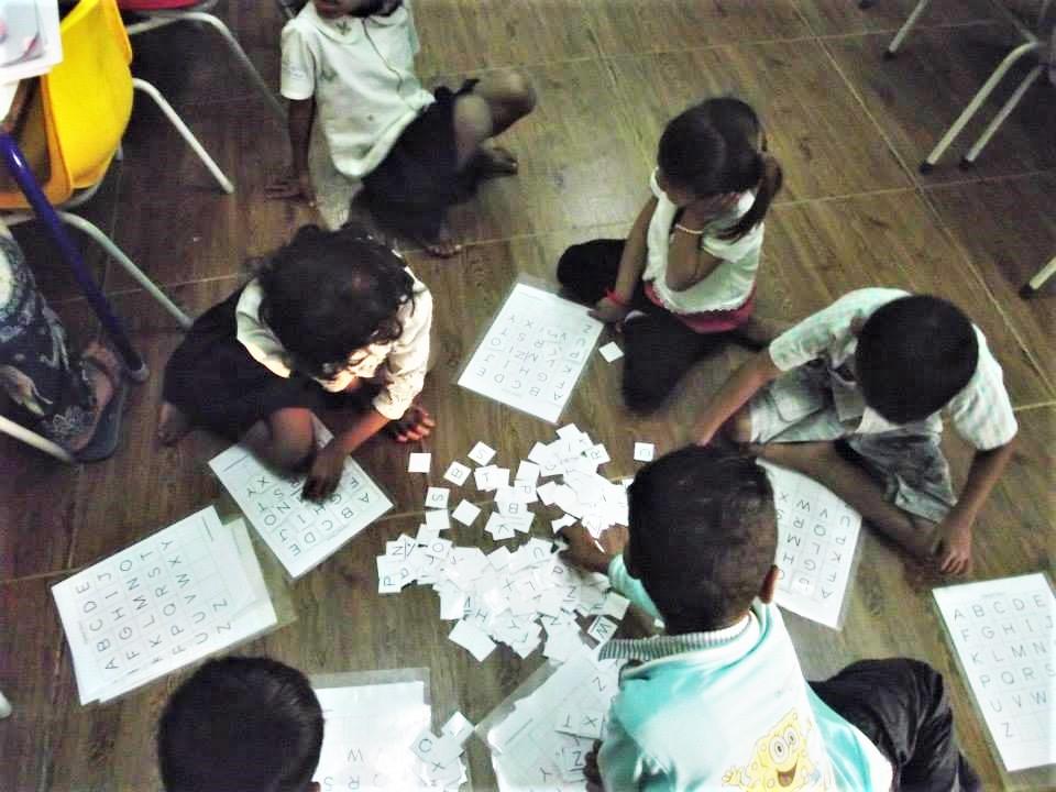 Children at a school I volunteered at in Cambodia