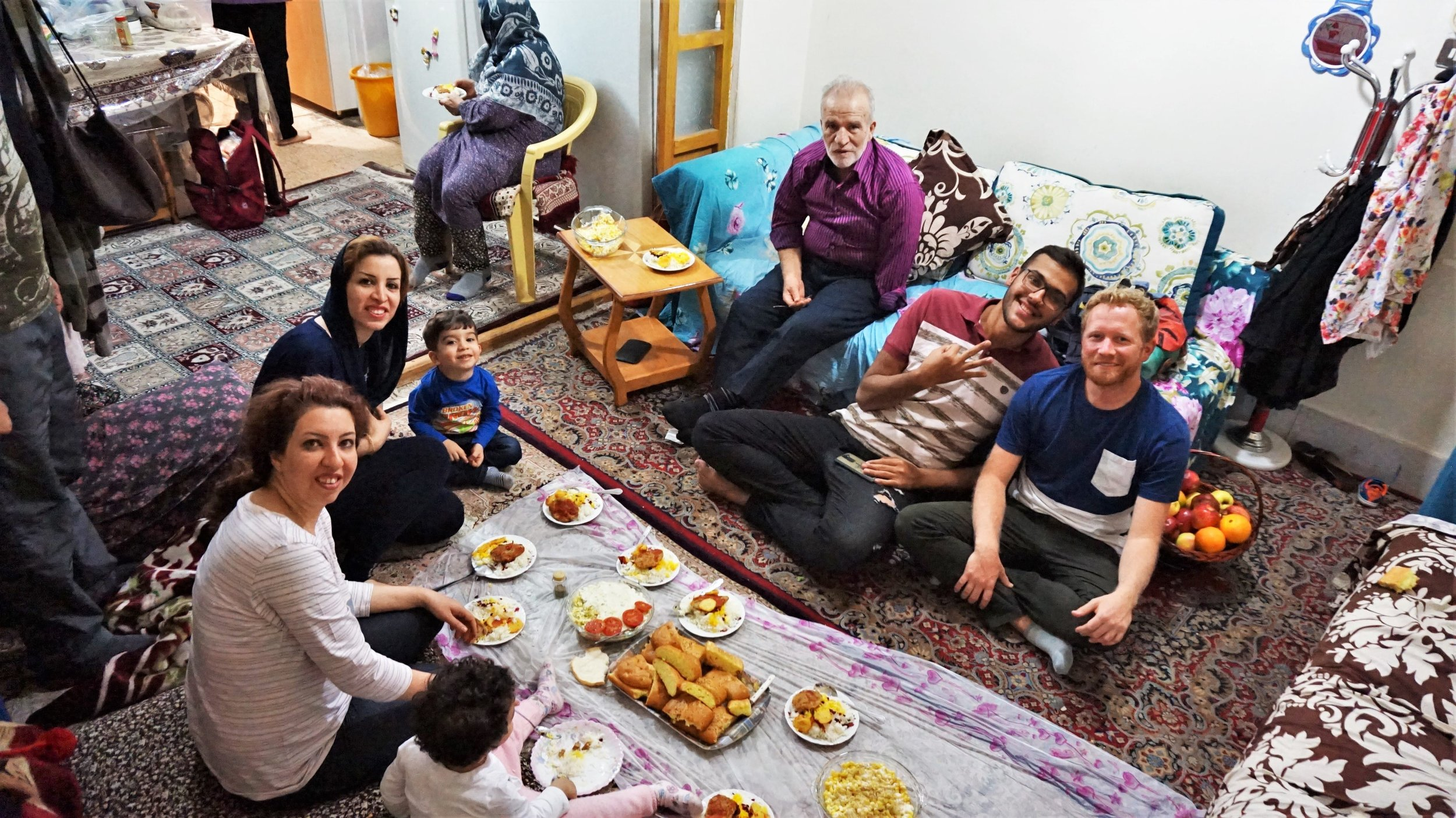 Dinner with one of our couchsurfing hosts in Iran
