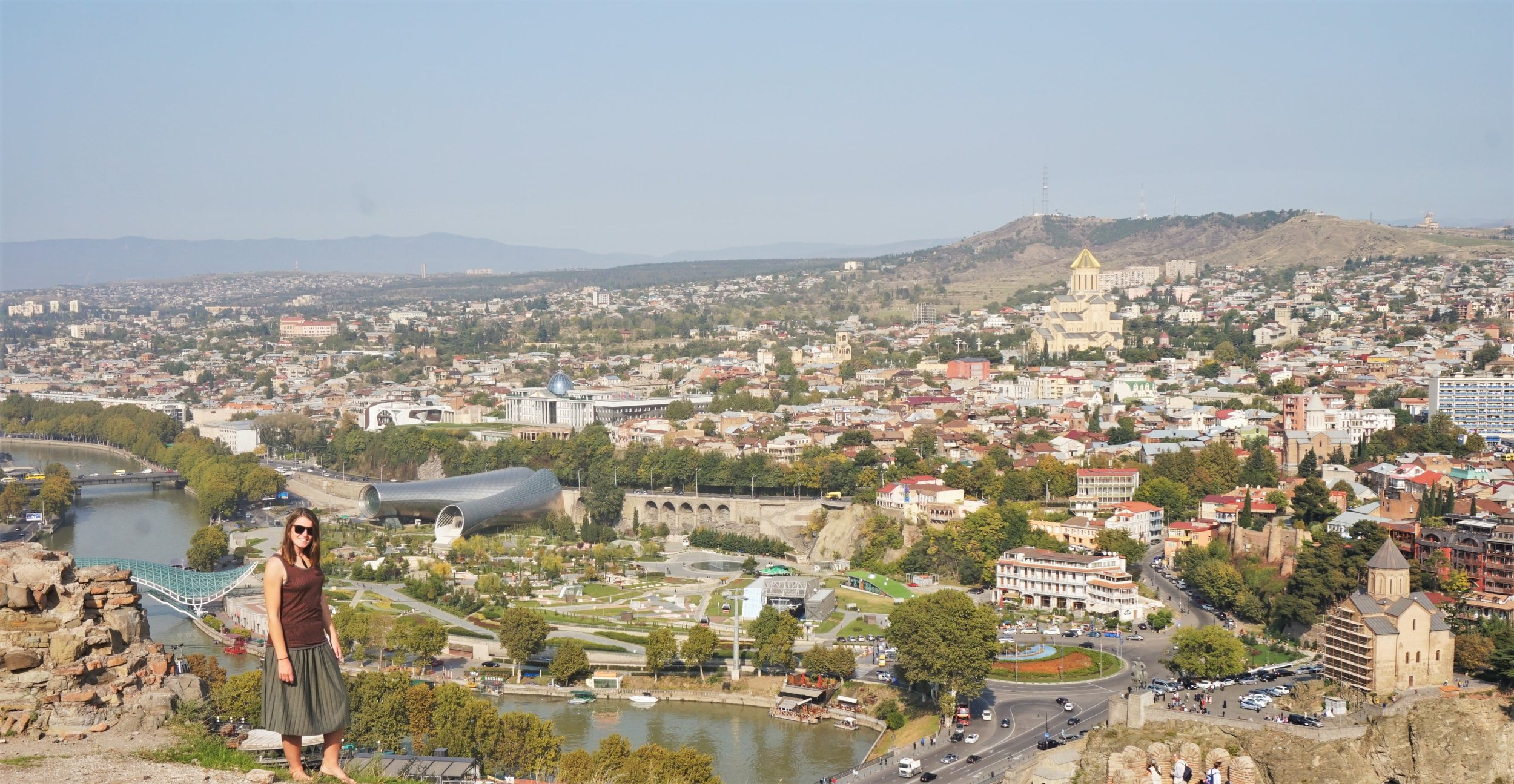 views from the narikala fortress in tbilisi georgia, one of the best views of tbilisi