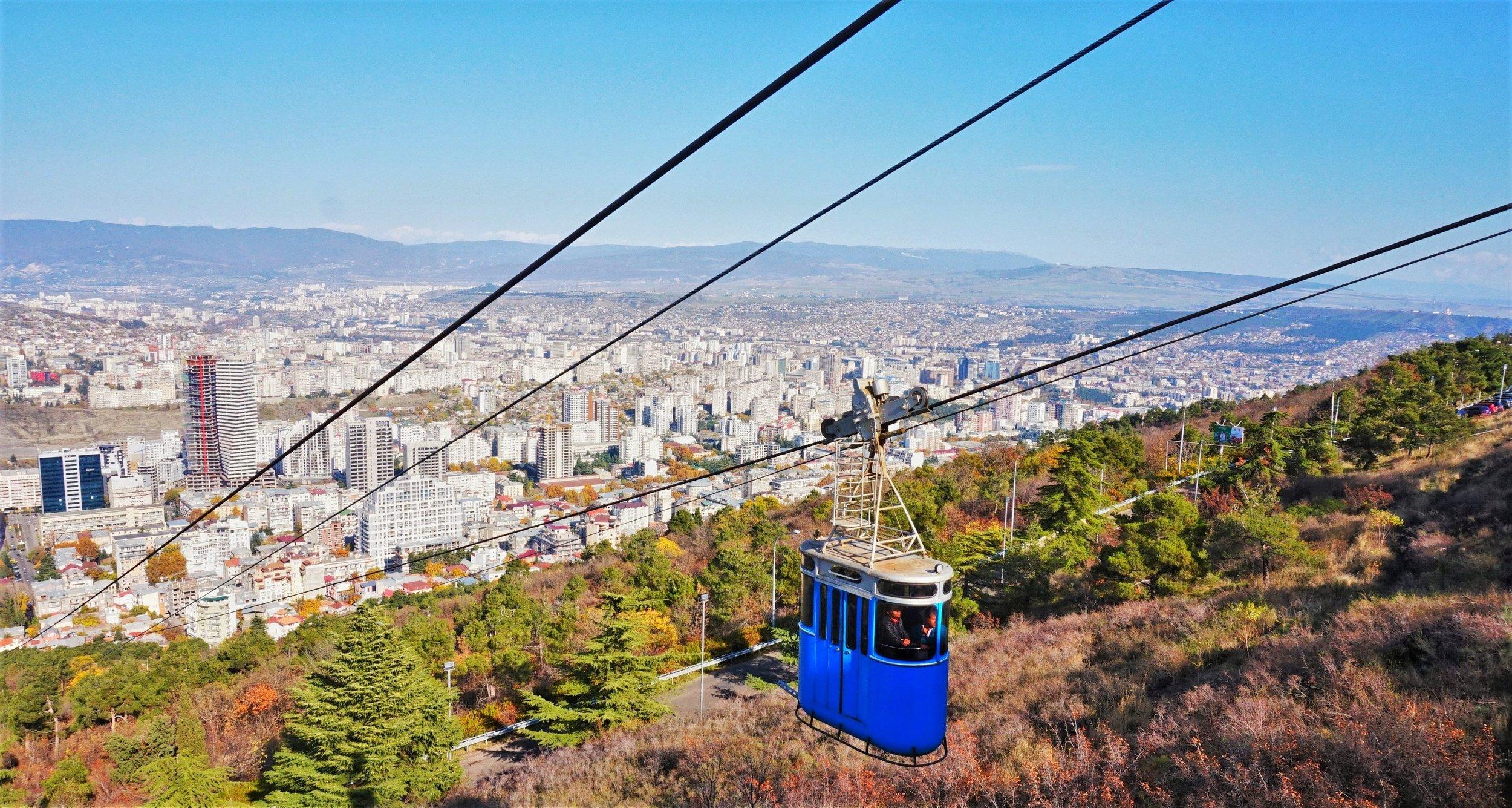 cable car in tbilisi georgia