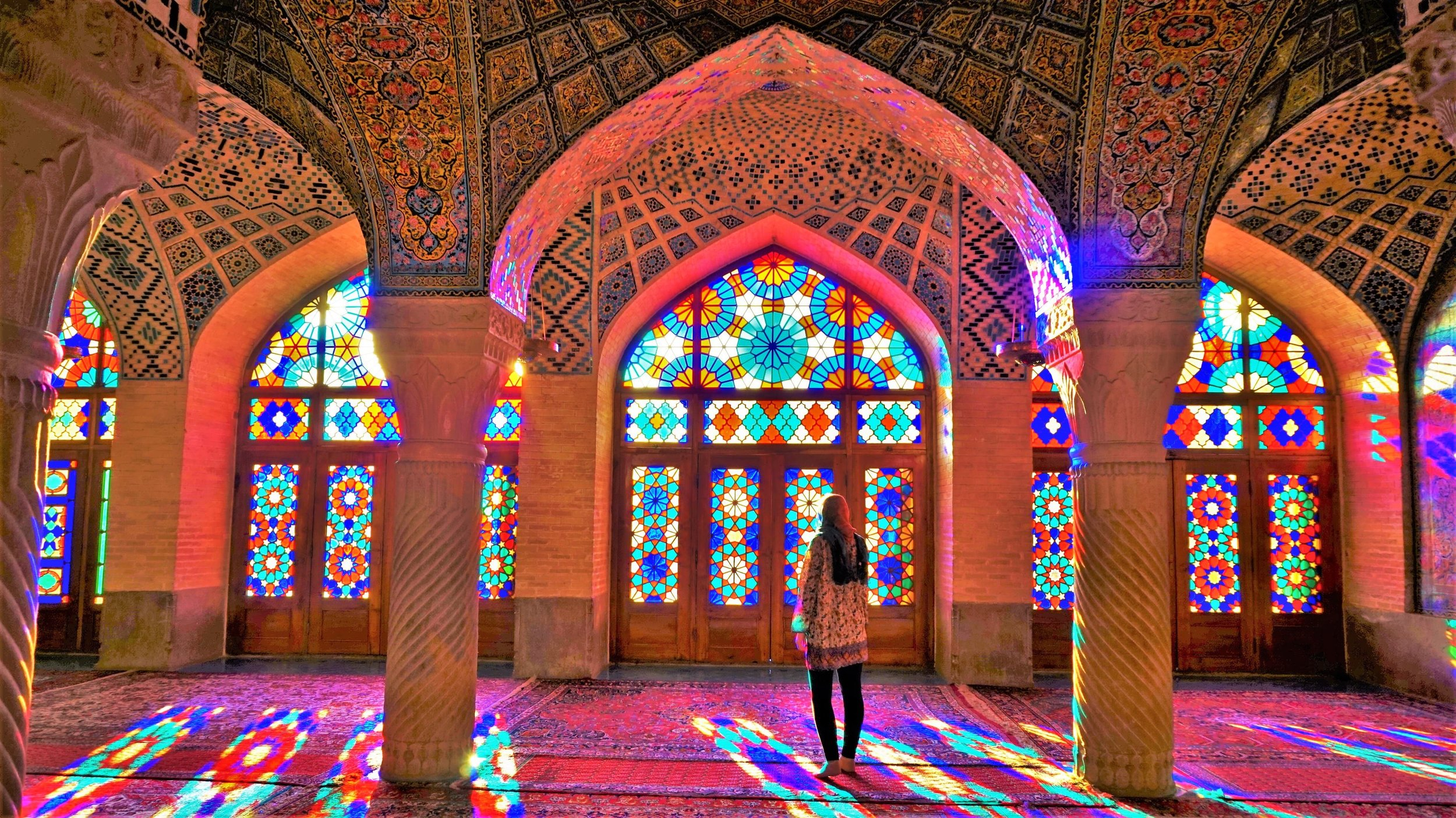 sunrise at the pink mosque shirz iran