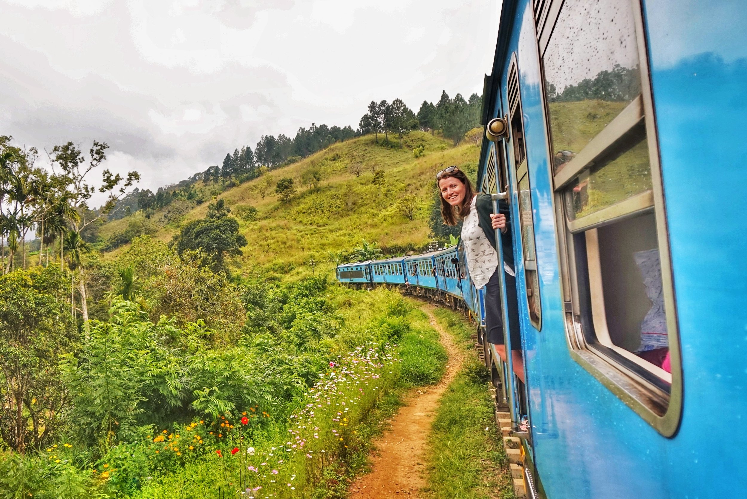 riding on the Kandy to Ella train, a must-do when in Sri Lanka