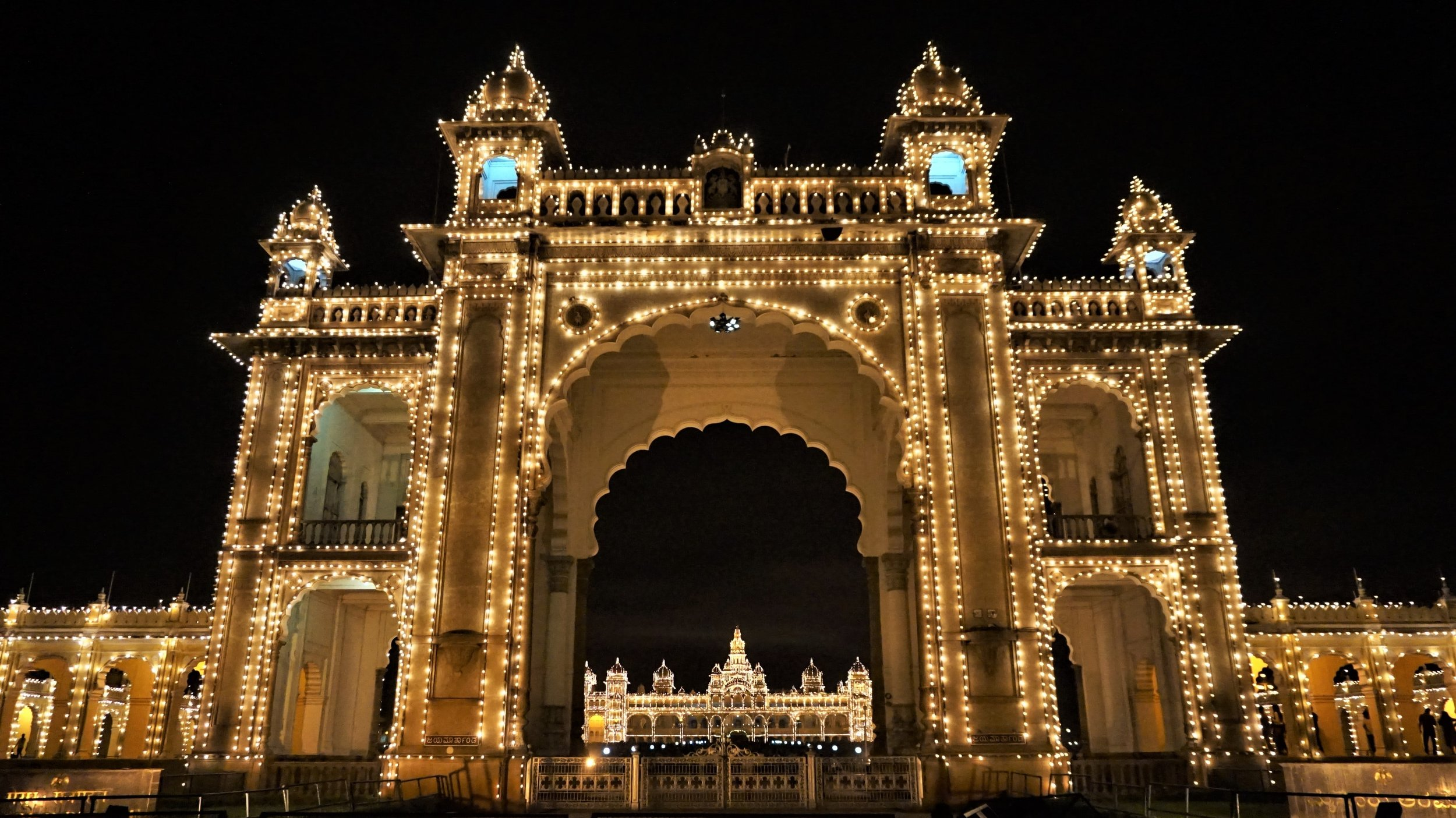 Mysore Palace at night is one of the best things to do in Mysore, Karnataka