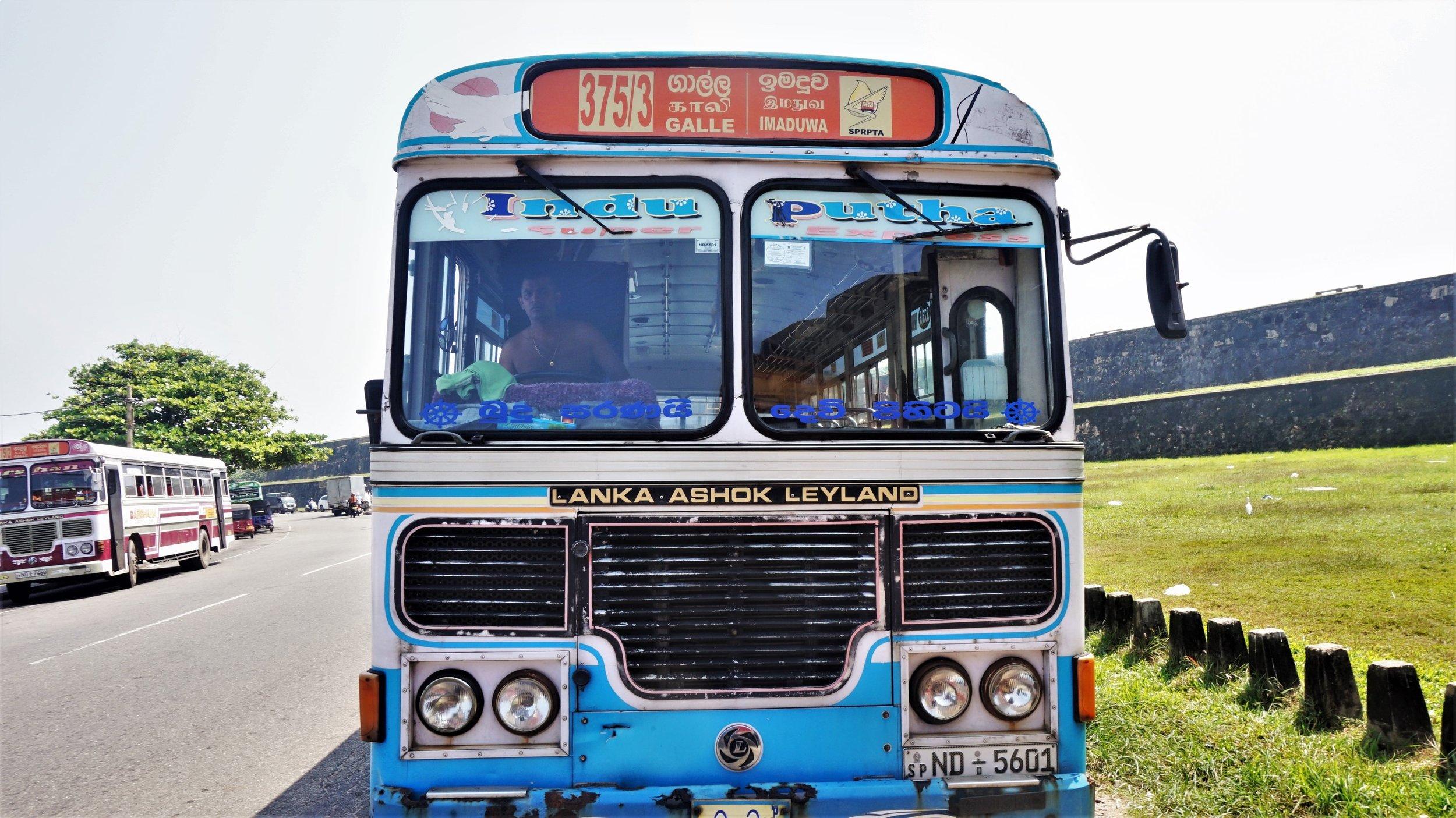public bus in Sri Lanka the cheapest way to get around Sri Lanka