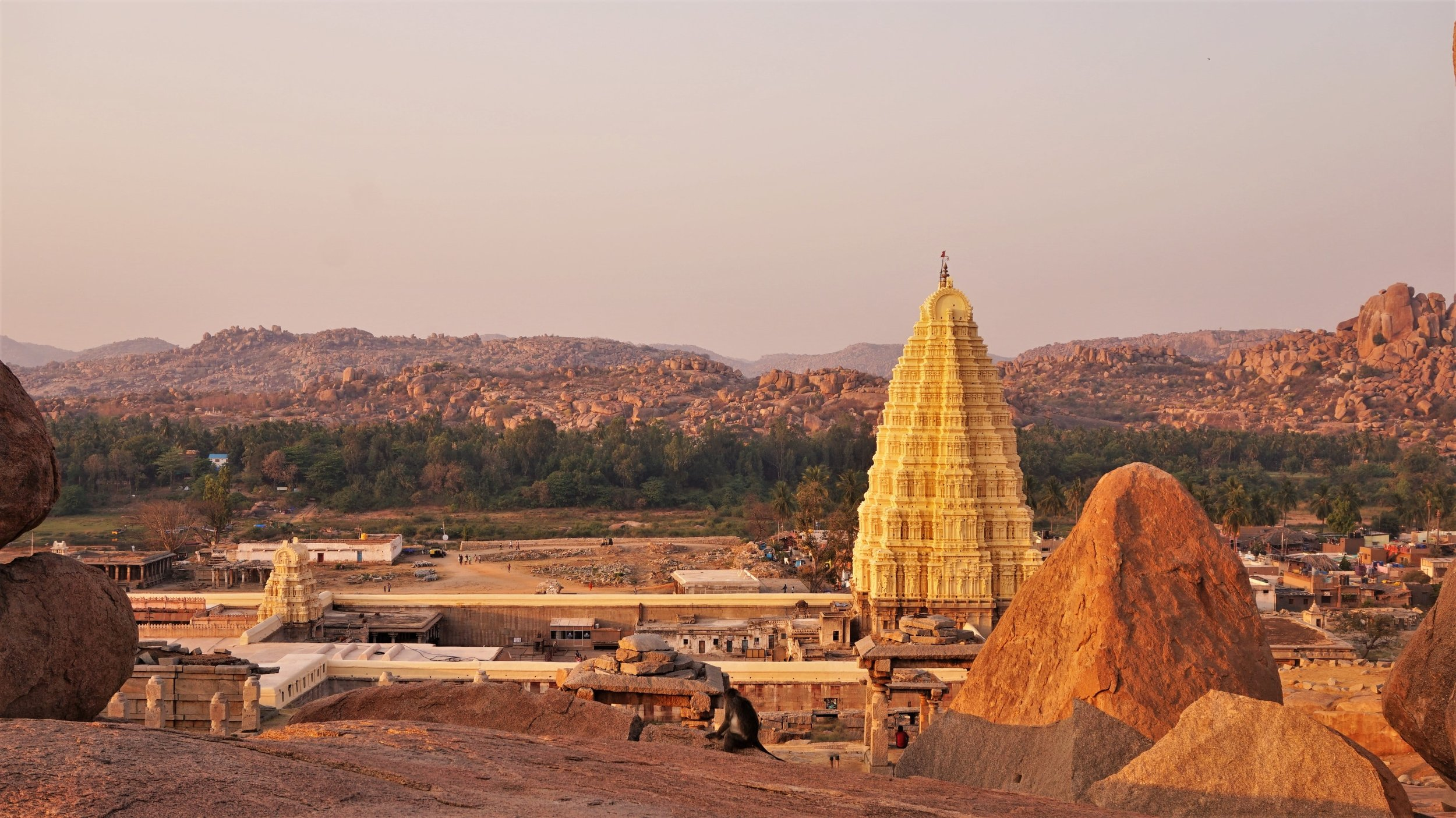 The views from Sunset Point are one of the best things to do in Hampi.