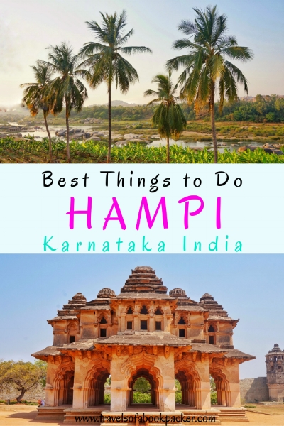 Everything you need to know for exploring the spectacular ruins and the town of Hampi in 2 days. Includes information about where to stay in Hampi, transport to, from and around Hampi and the best temples to visit. #hampi #india #hampiitinerary #bestplacestoseeinhampi #tempelhampi #ruinshampi #thingstodoinhampi