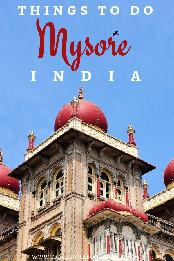 Travelling to India? Read about the best places to see in Mysore. This guide has a list of great things to do in Mysore as well as the best cafes in Mysore and restaurant recommendations. Don't miss this gem in the south of India. Travelling India // things to see in Karnataka // Things to see in south India // Things to do in Mysore //Things to do in south India // Mysore Palace #mysore #india #southindia #karnataka #mysorepalace