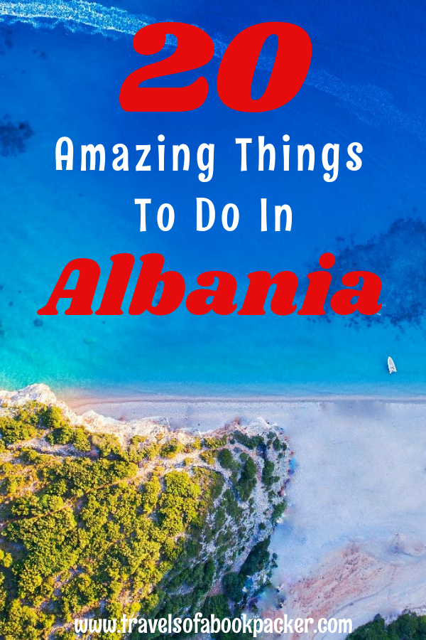 Are you planning a trip to the Balkans? Here we have some travel inspiration for Albania for you! Twenty awesome things you should do in this amazing underrated country. 20 great ideas for Albania! #albania #balkan #travelinspiration #balkans #albaniabeach #thingstodoinalbania #travelplanningalbania #reasonstovisitalbania