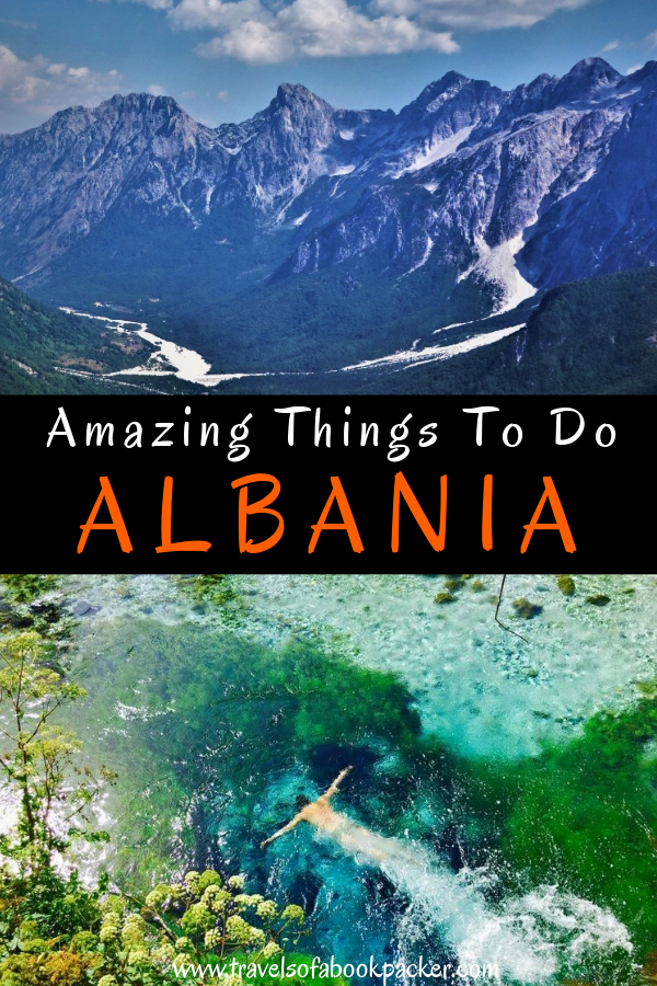 Are you planning a trip to the Balkans? Here we have some travel inspiration for Albania for you! Twenty awesome things you should do in this amazing underrated country. 20 great ideas for Albania! #albania #tirana #thingstoseeinalbania #travelinspiration #balkans #albaniabeach #thingstodoinalbania #travelplanningalbania #reasonstovisitalbania