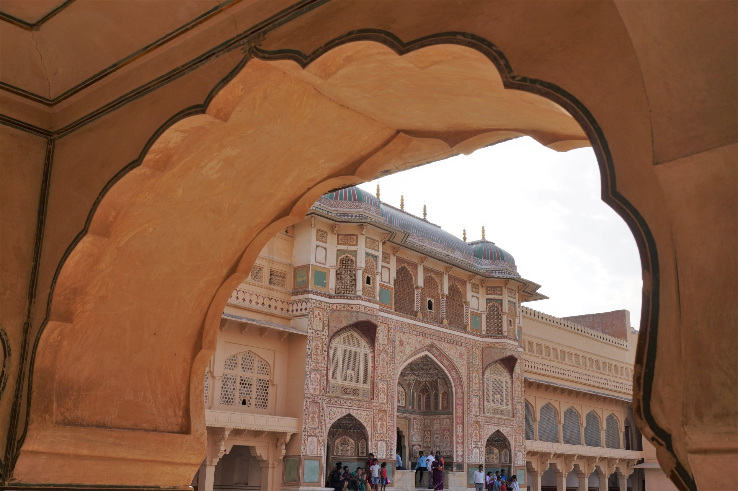 The beautiful Amber Fort in Jaipur